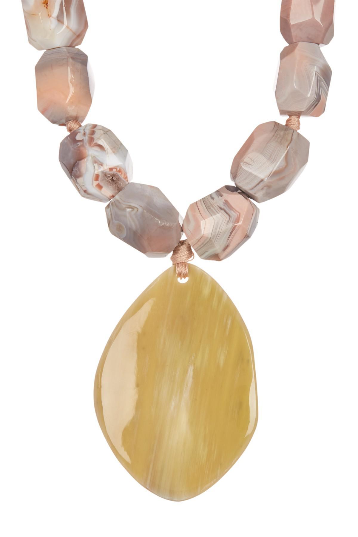 92791ef5395d4 Lyst - Nest Pink Botswana Horn Pendant Necklace in Metallic