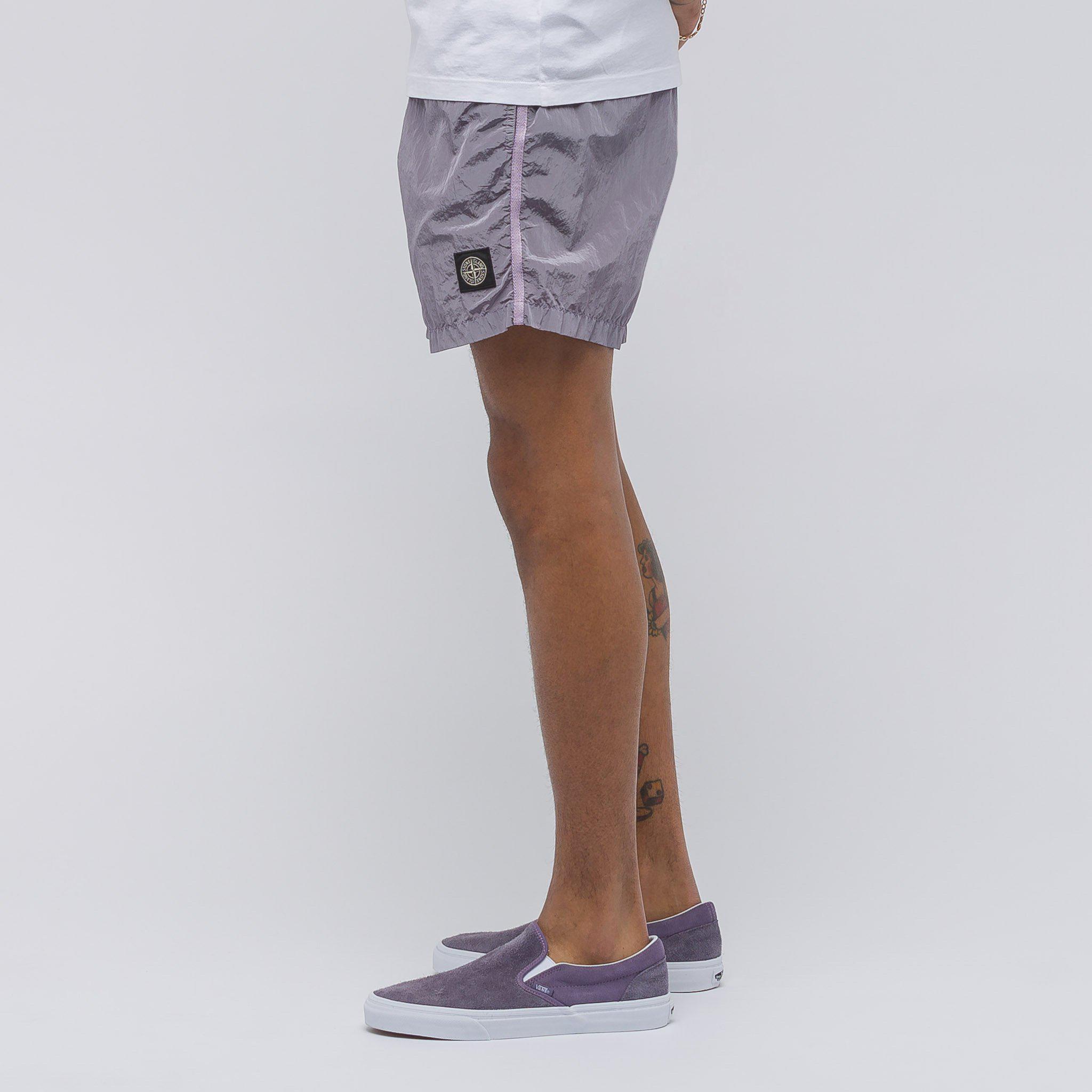 3be20da8ae Stone Island B0643 Swim Shorts In Lavender for Men - Lyst