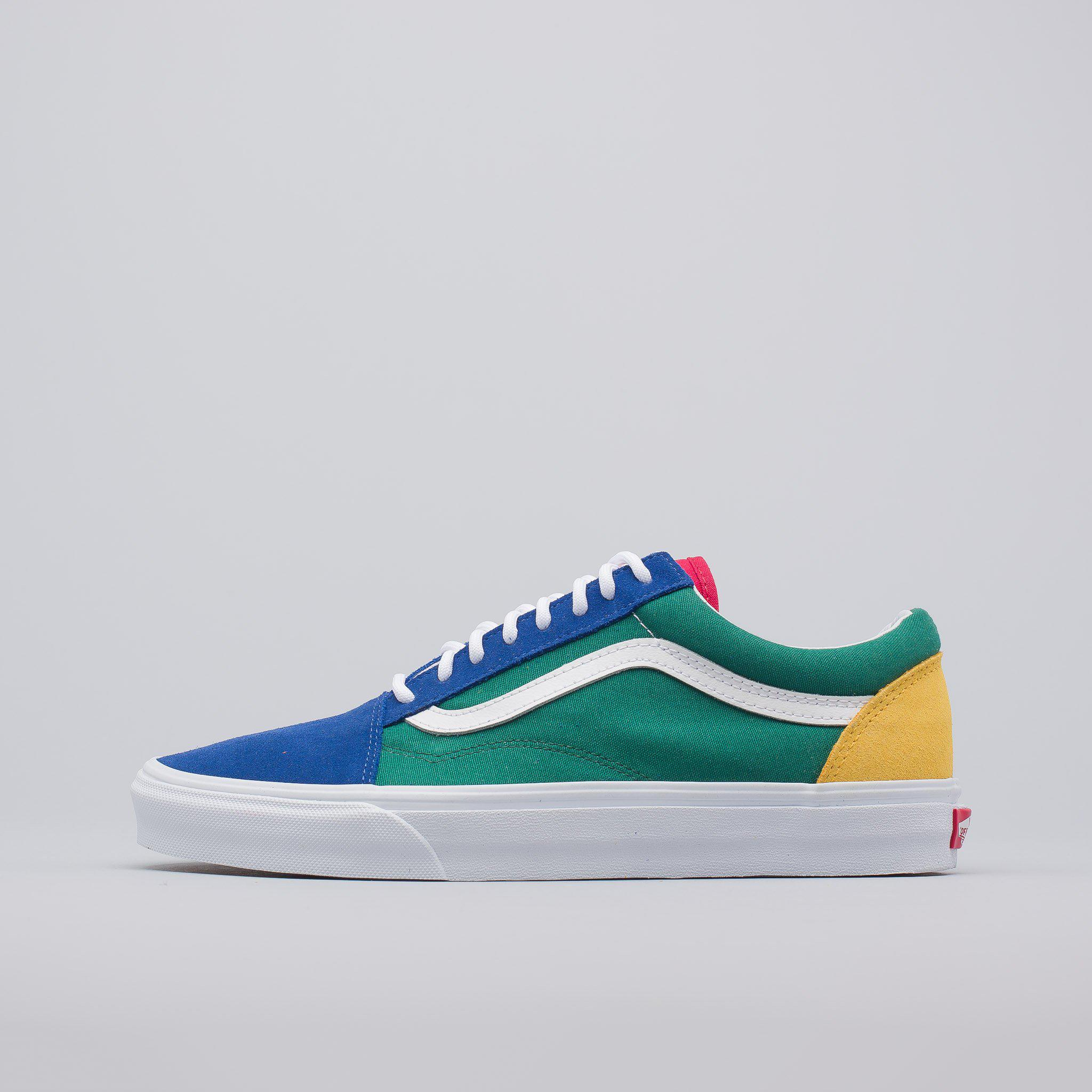 vans blue green yellow