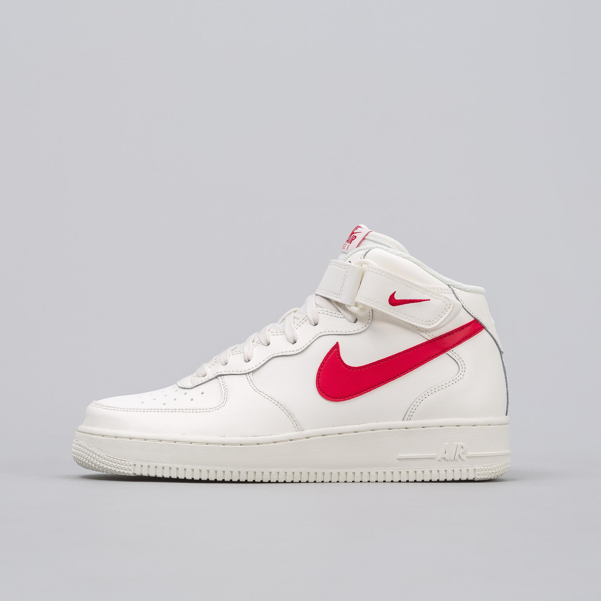 f9028e2b Lyst - Nike Air Force 1 Mid '07 In Sail/red in Red for Men