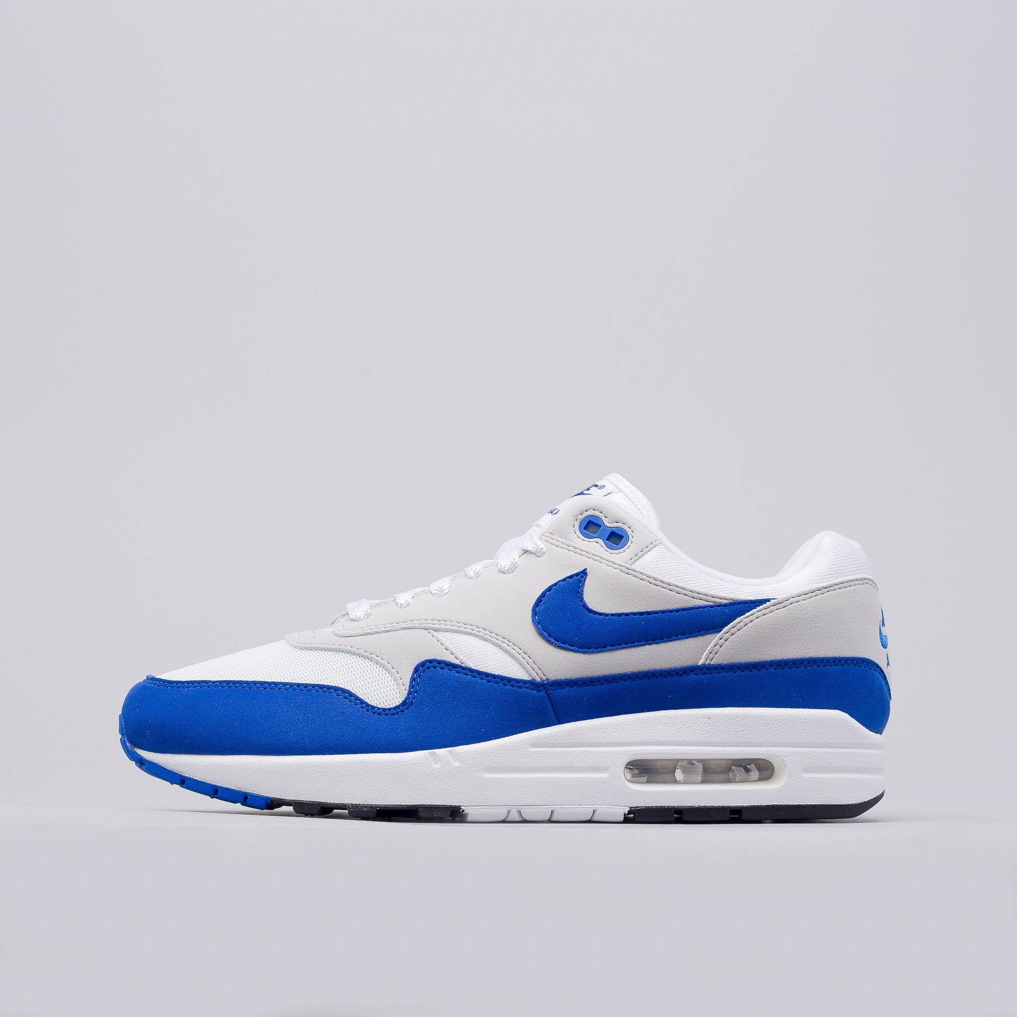Lyst Nike Air Max 1 Anniversary In Whitegame Royal in