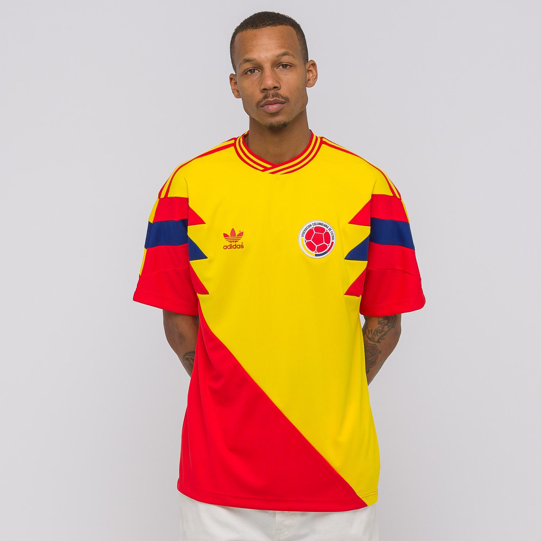 8a7d59582 adidas Colombia Mashup Jersey in Yellow for Men - Lyst