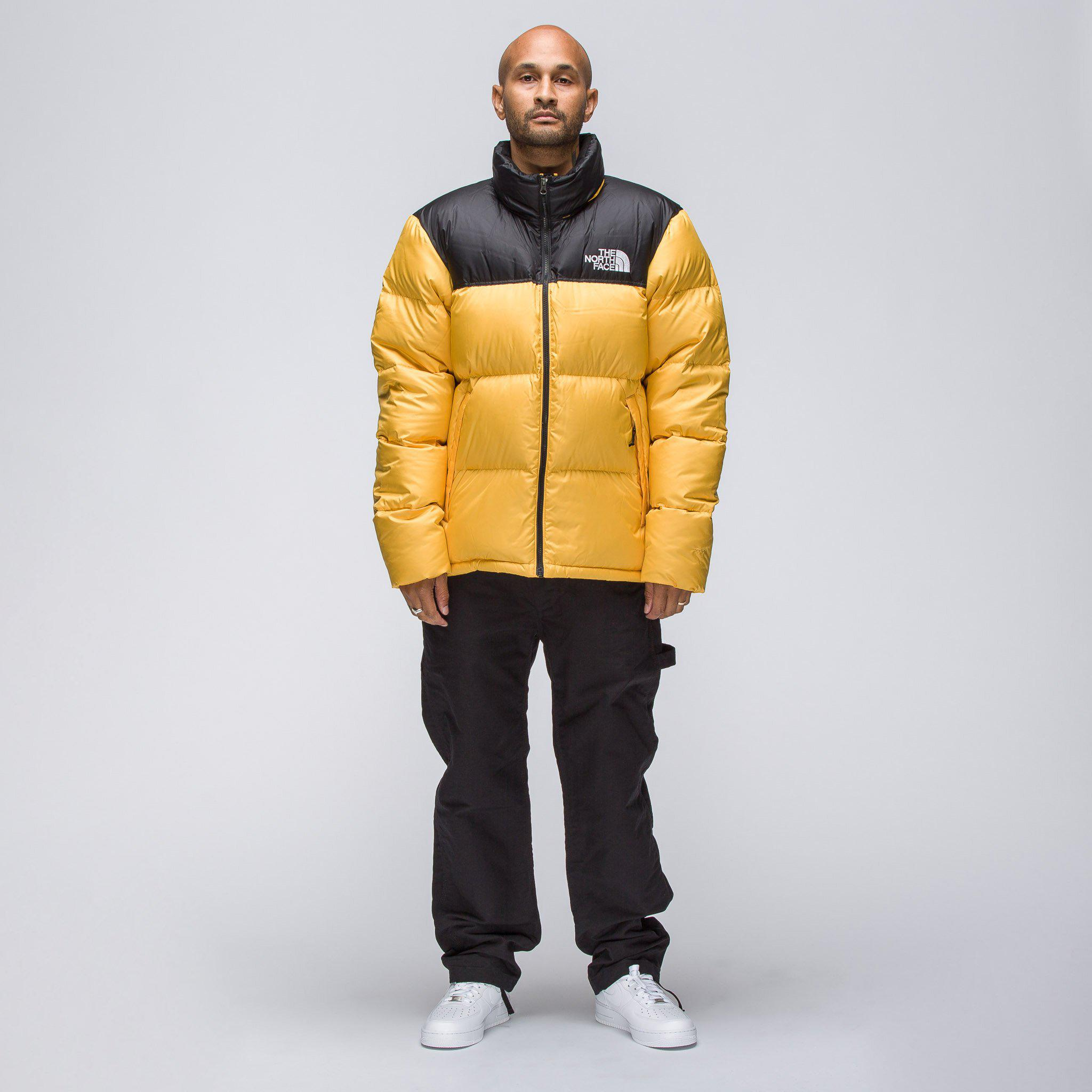 253a0d358b Lyst - The North Face Novelty Nuptse Jacket In Yellow in Yellow for Men