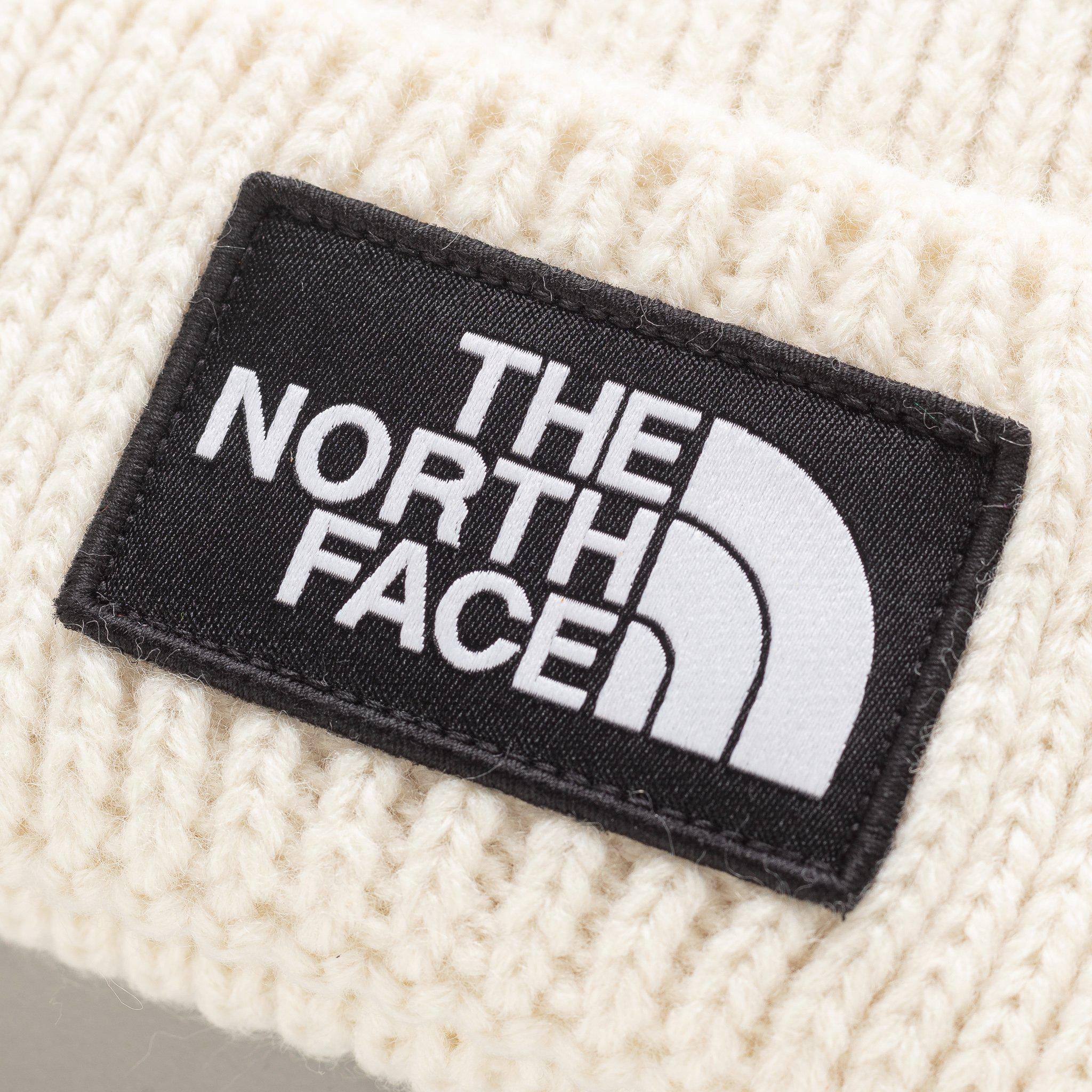 4815642346b The North Face - Tnf Logo Box Cuffed Beanie In Vintage White for Men -  Lyst. View fullscreen