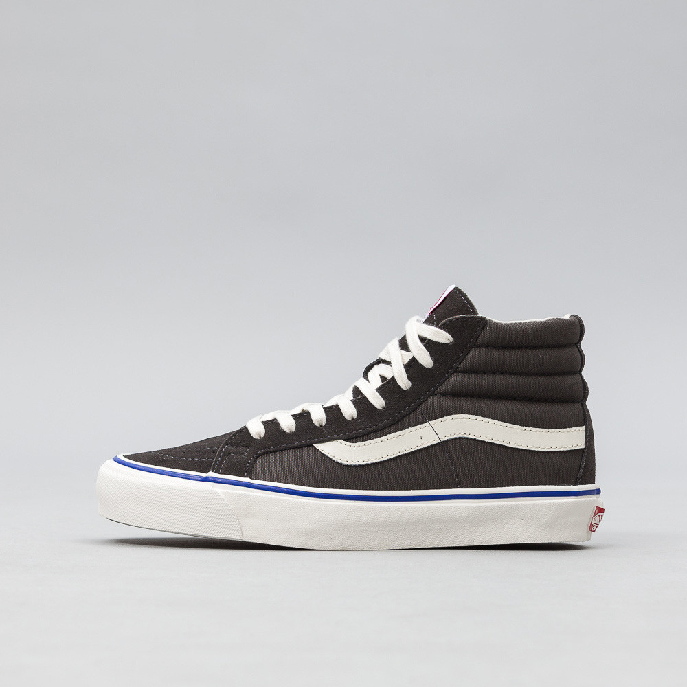 e3c58cd923 Lyst - Vans Og Sk8-hi Lx In Raven Suede canvas in Brown for Men