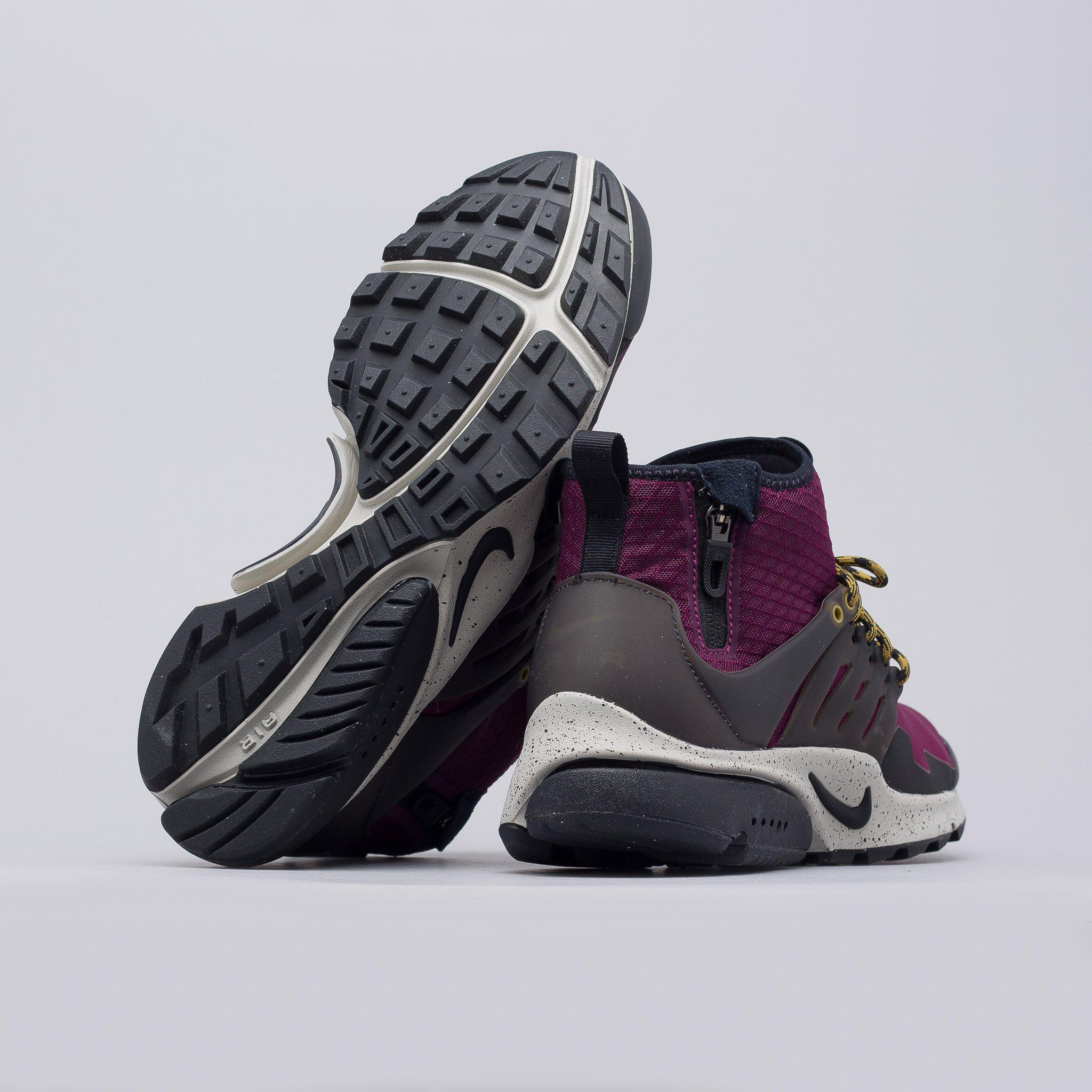 a2d34525dac3 Lyst - Nike Air Presto Mid Utility In Bordeaux for Men