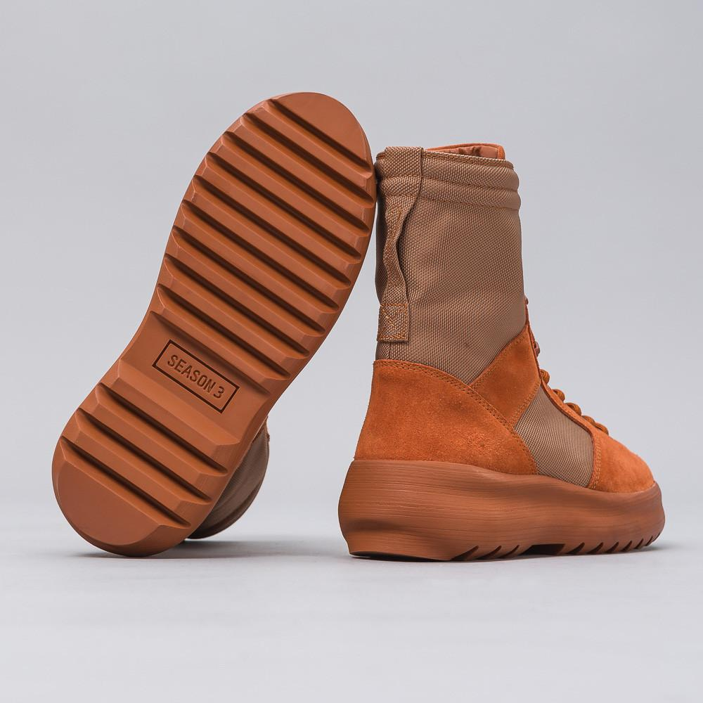 f43b809e85fb3 Lyst - Yeezy Military Boot In Burnt Sienna for Men