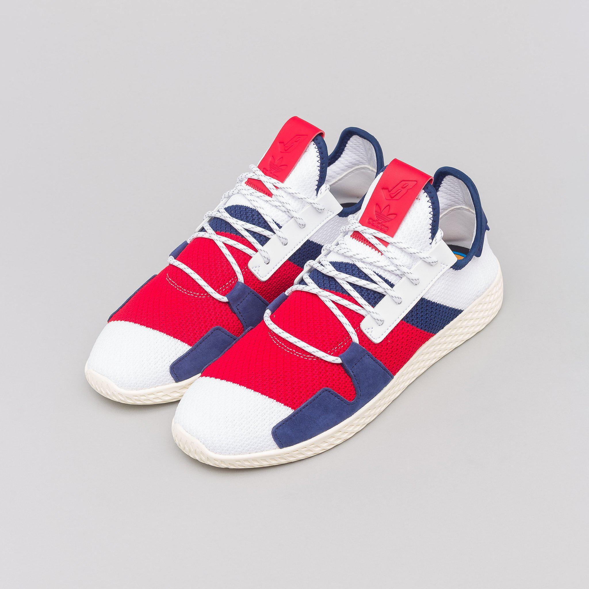 ea9bcaacf04bd Lyst - adidas X Pharrell Williams Bbc Hu V2 In White scarlet blue in ...