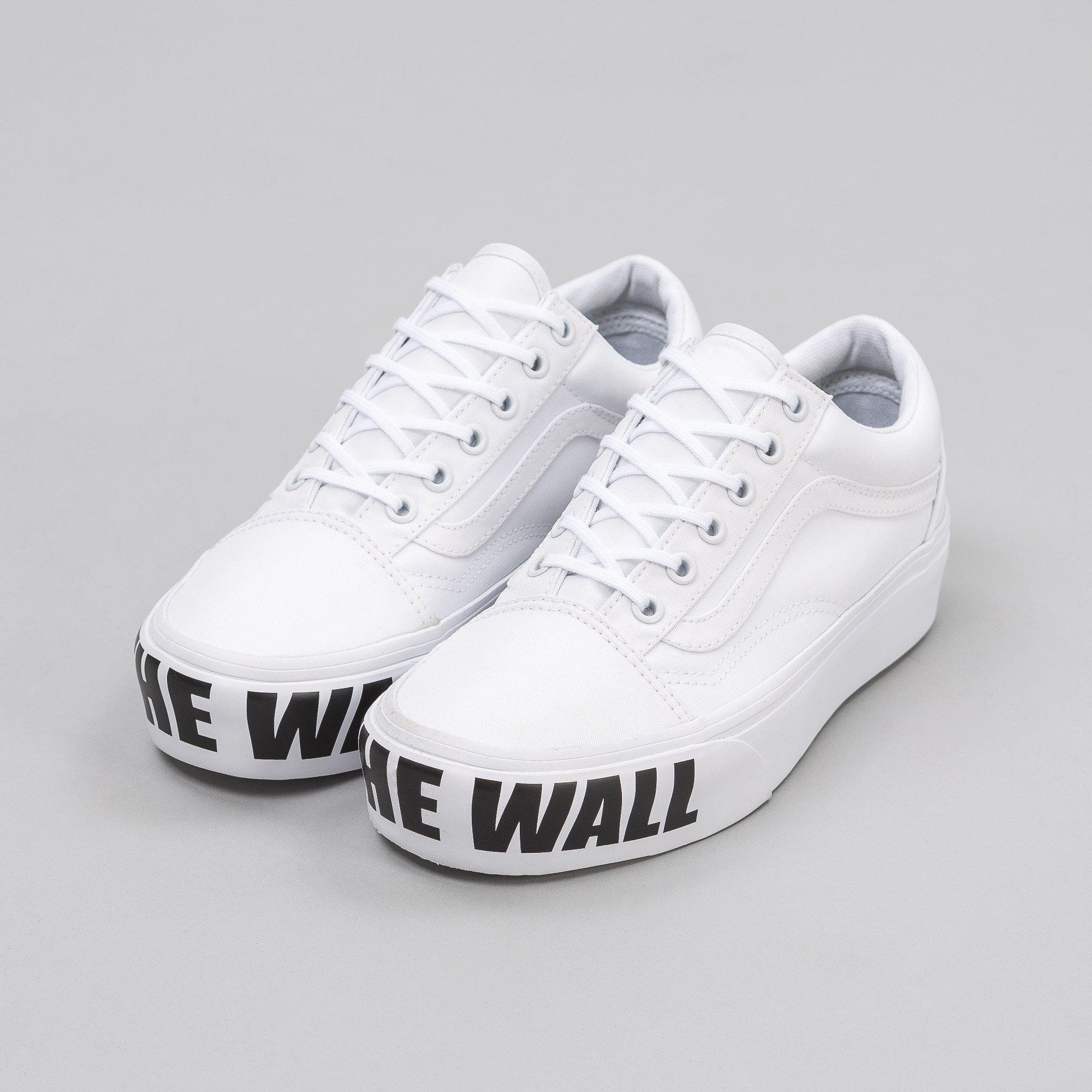 c19d52997d49 Lyst - Vans Old Skool Platform Off The Wall in White for Men