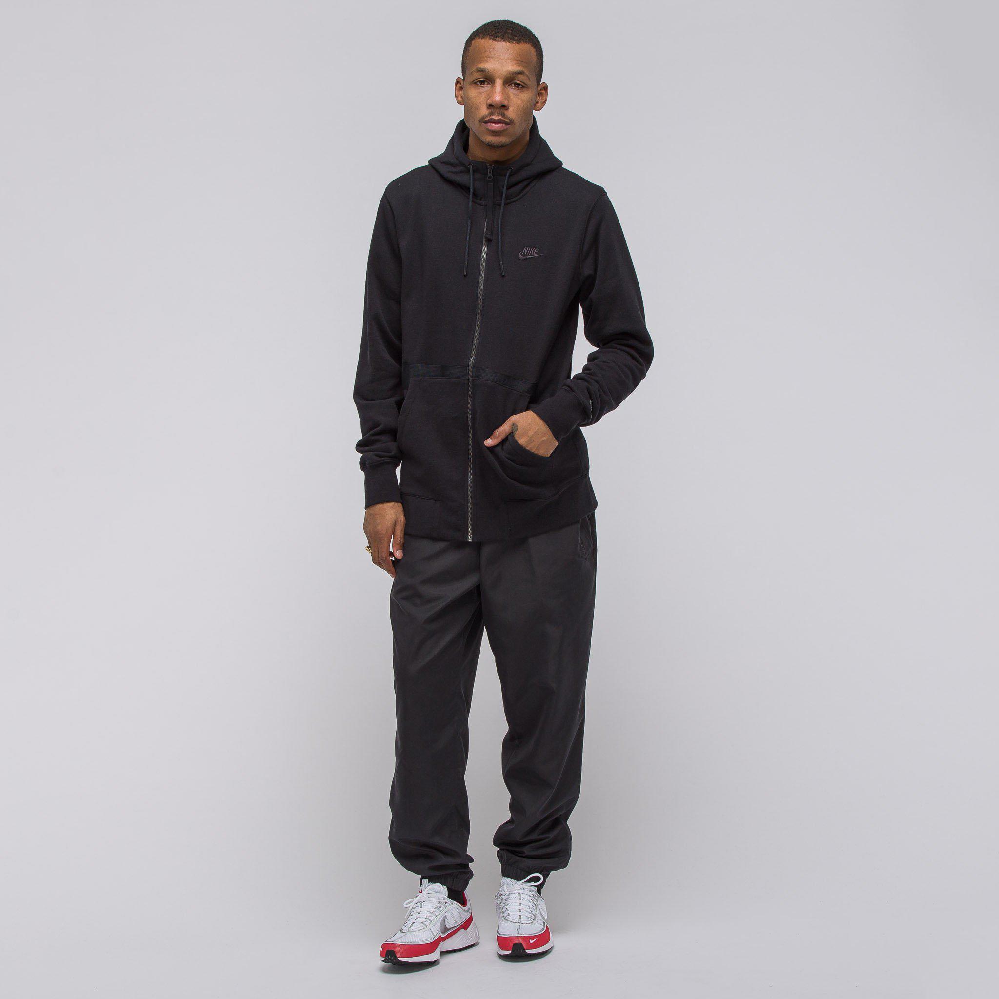 8377847a4b99 Lyst - Nike Sportswear Air Force 1 Fullzip Fleece Hoodie In Black in ...