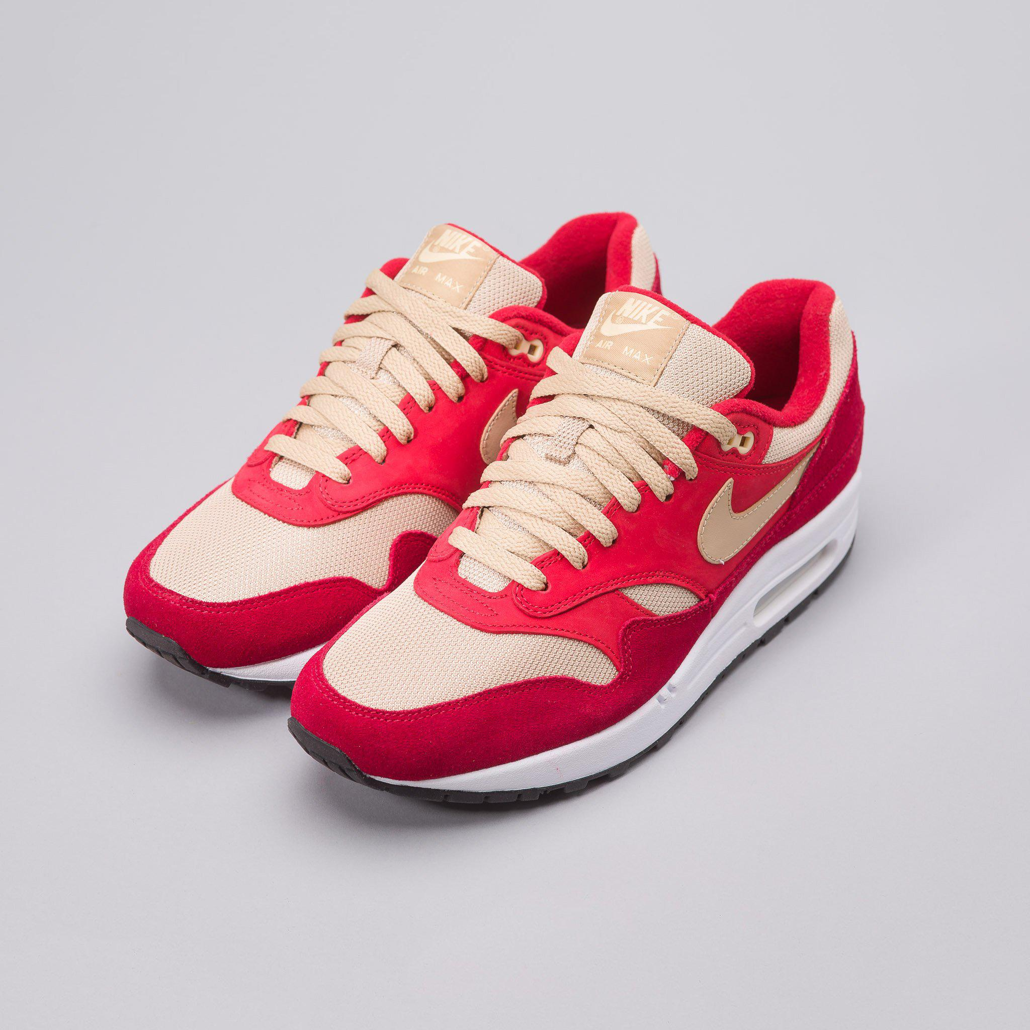 brand new b1c95 eeabe Nike X Atmos Air Max 1 Premium Retro Red Curry in Red for Men - Lyst