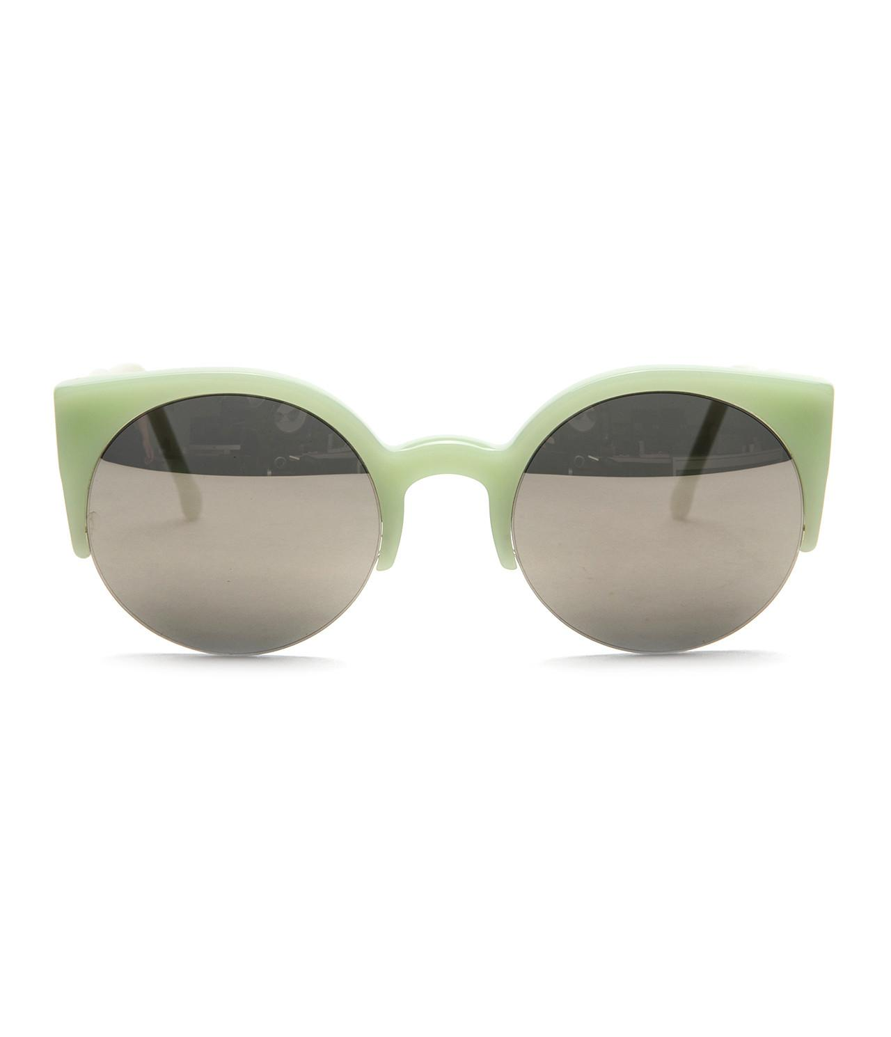 bc38e17aaa8f Retrosuperfuture - Lucia Moss Green Pastel Sunglasses With Gold Mirror  Ziess Lens - Lyst. View fullscreen