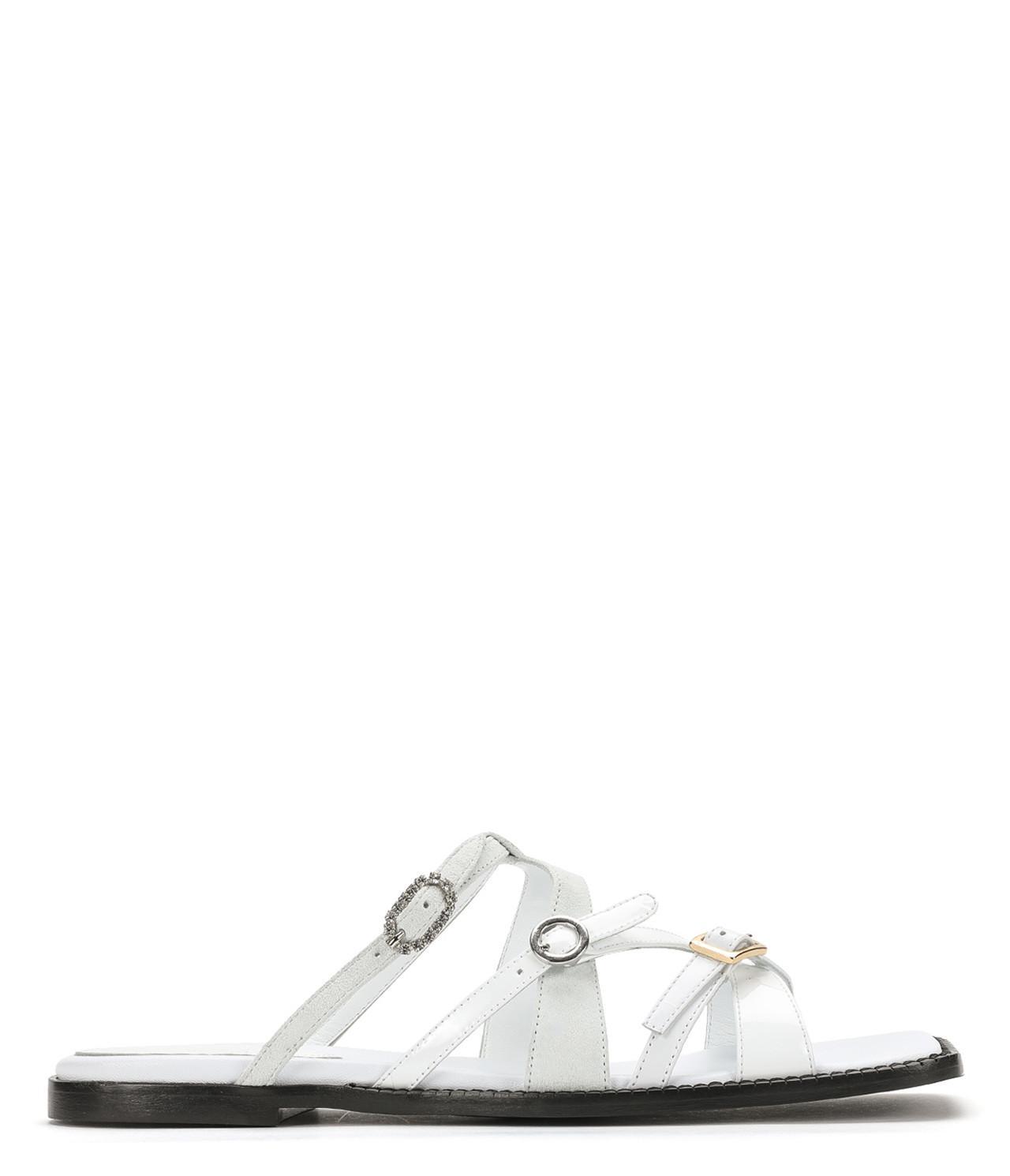 49bebb805241 MM6 by Maison Martin Margiela. Women s White Square Toe Multi-strap Sandal