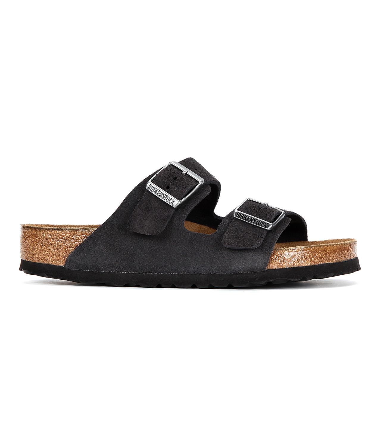 487a803bb36 Birkenstock - Gray Arizona Soft Footbed Suede for Men - Lyst. View  fullscreen