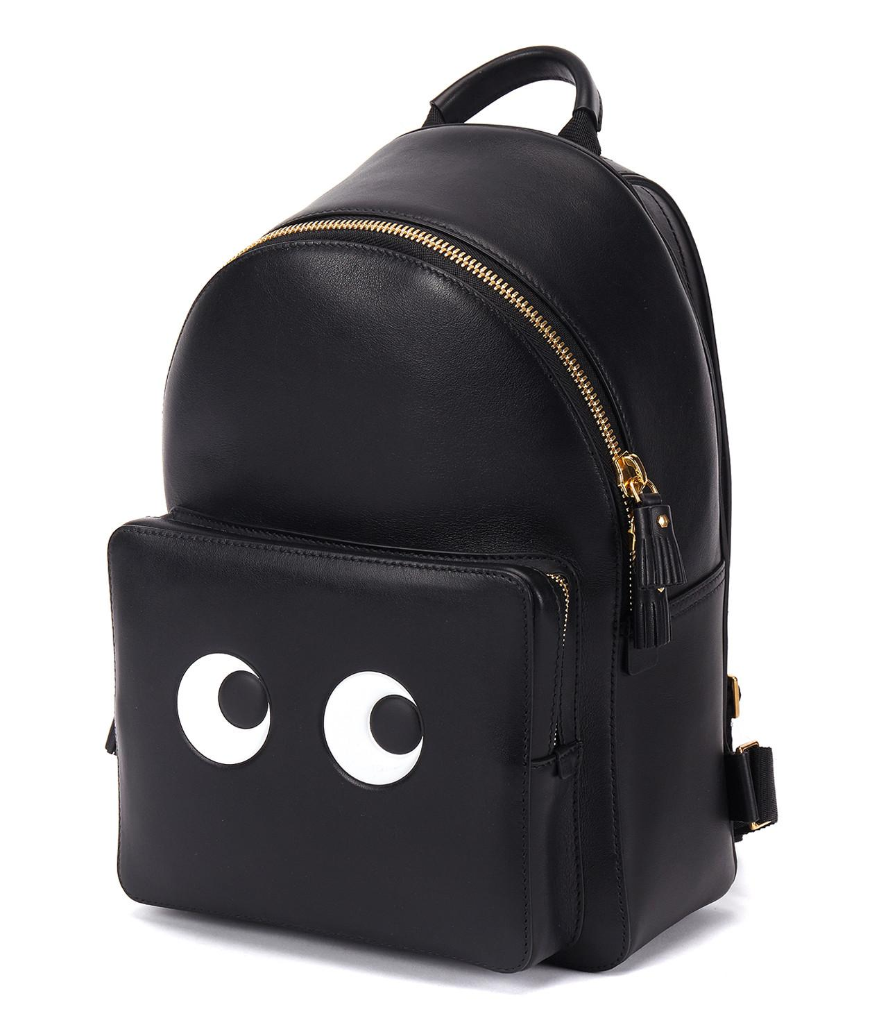 01210ed9d747 Anya Hindmarch Mini Eyes Backpack in Black - Save 47.84263959390863% - Lyst