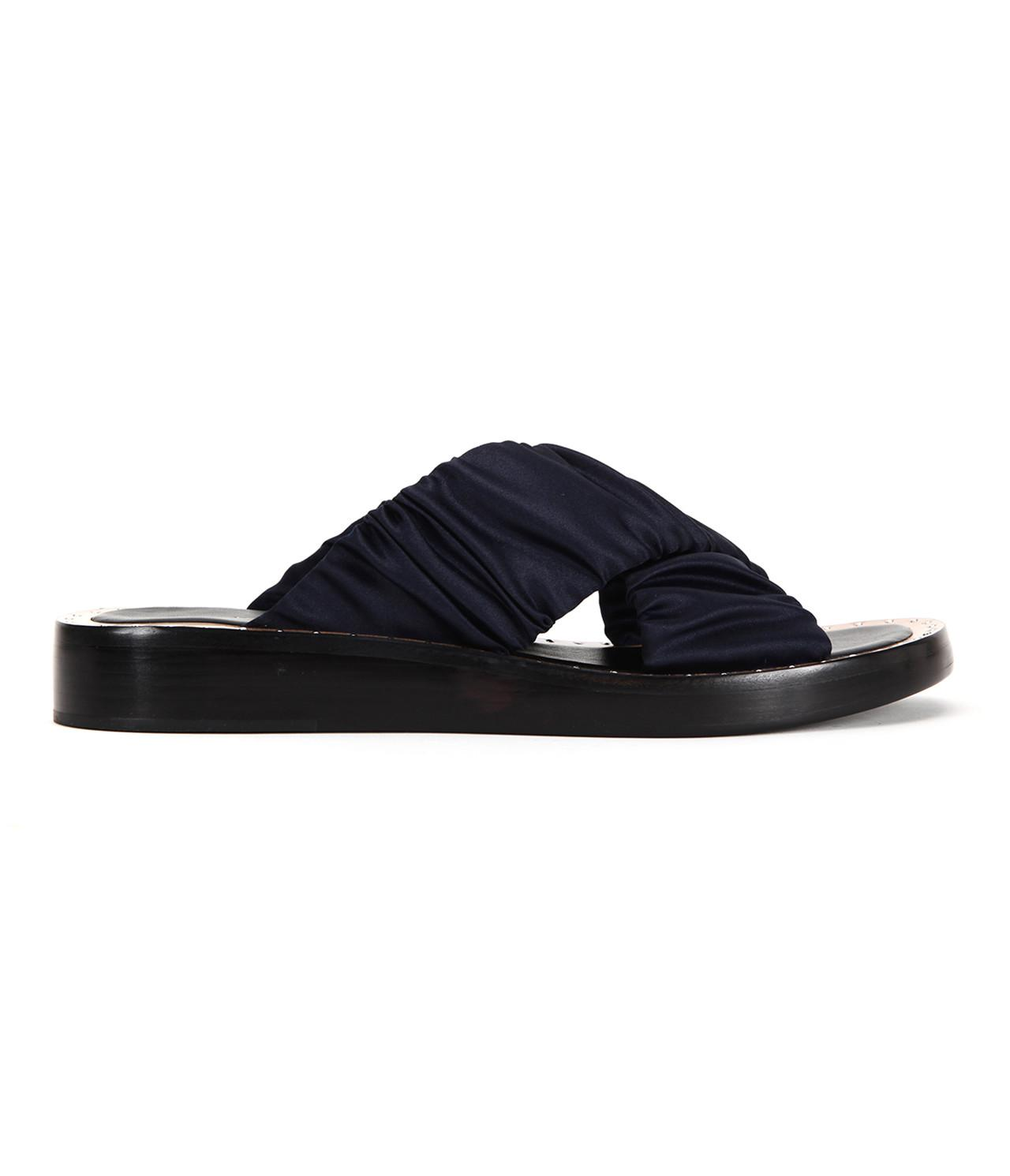 3.1 Phillip Lim. Women's Blue Nagano Flat Crisscross Slide