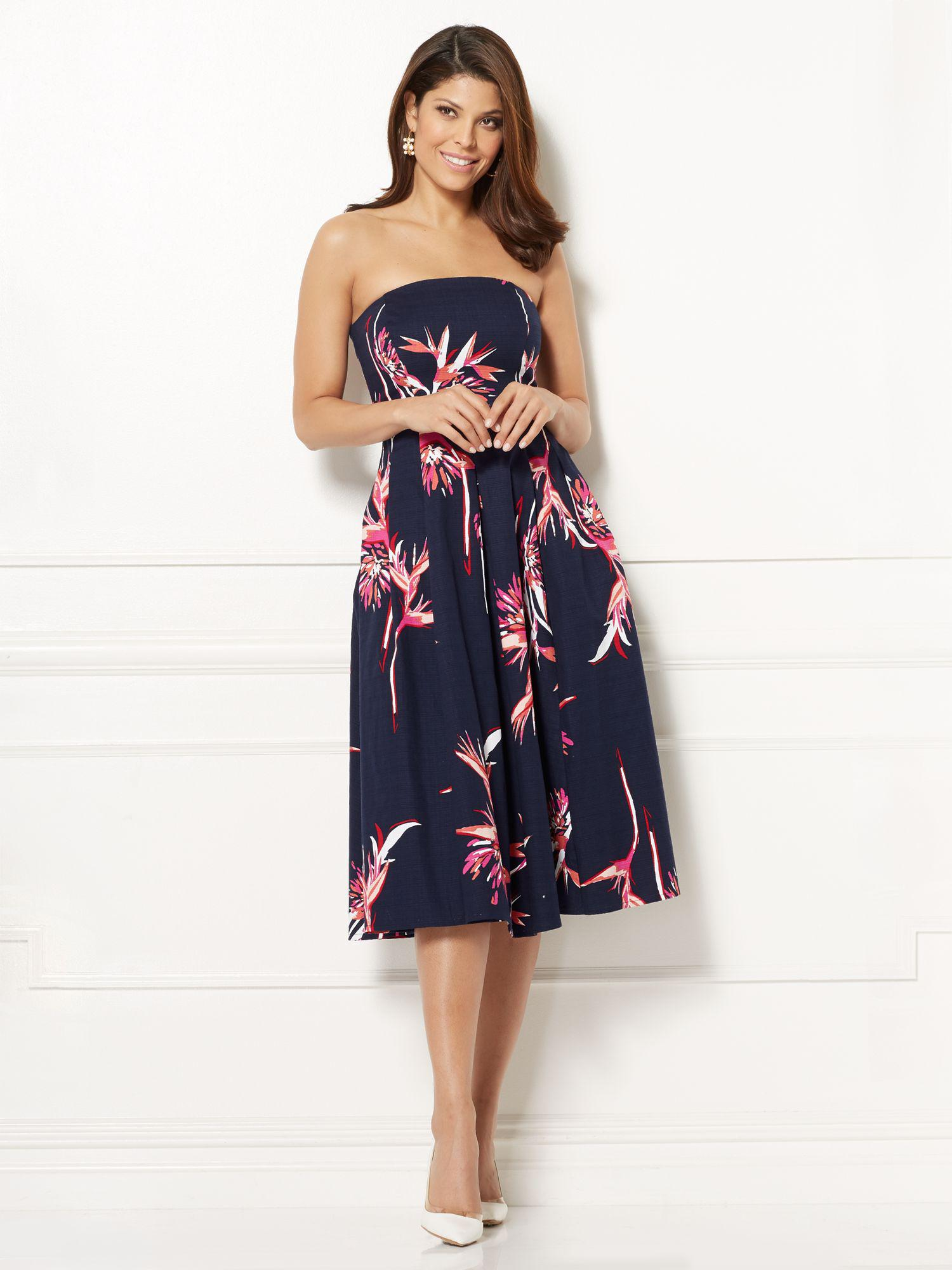 98d5ab2878 Lyst - New York   Company Eva Mendes Collection - Del Mar Strapless ...