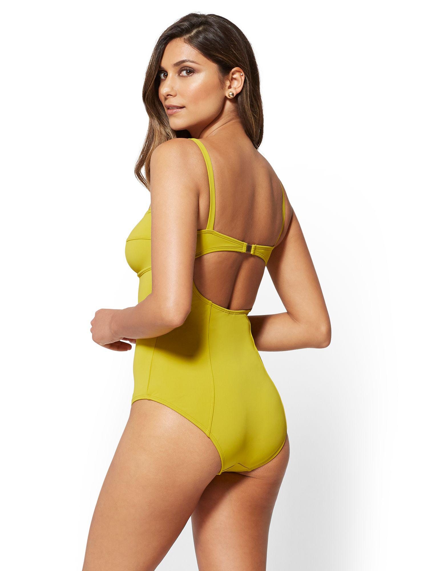 0be474f29be9f New York & Company Eva Mendes Collection - Corset One-piece Swimsuit ...