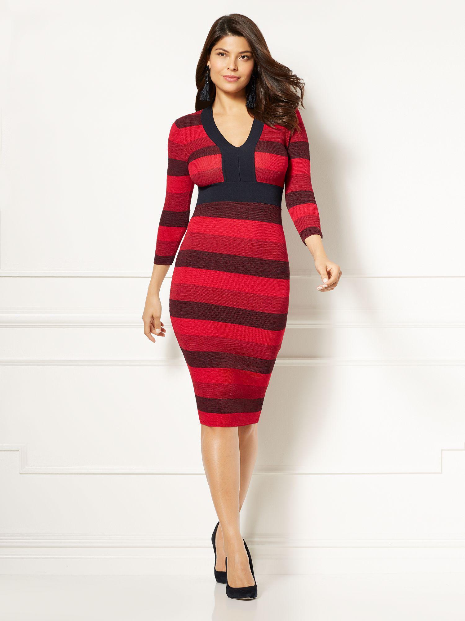 dcd8916868b New York   Company Eva Mendes Collection - Francisca Stripe Sweater ...