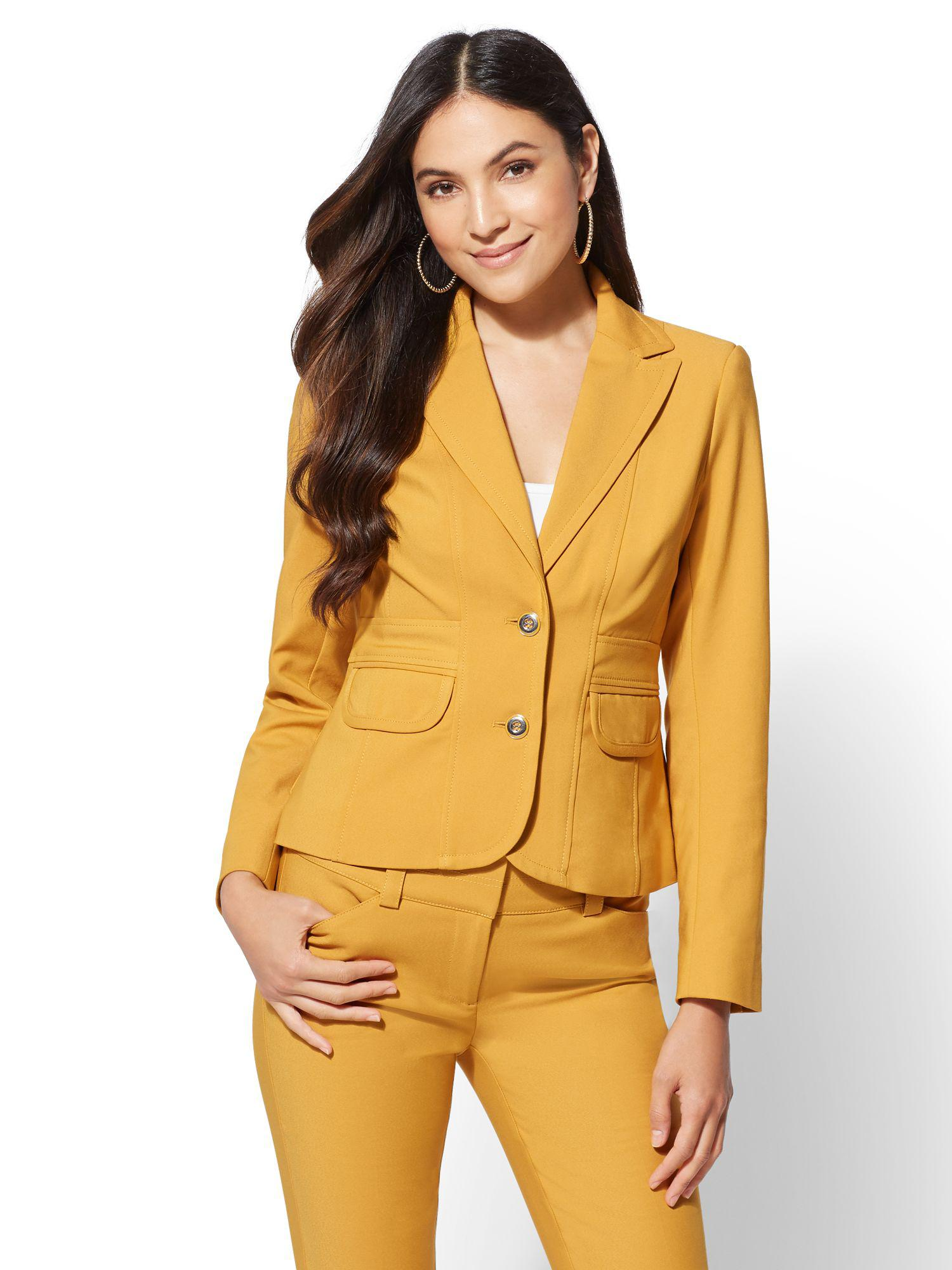 703fe5f50b29 New York & Company. Women's Metallic 7th Avenue - Petite Two-button Jacket  - All-season Stretch