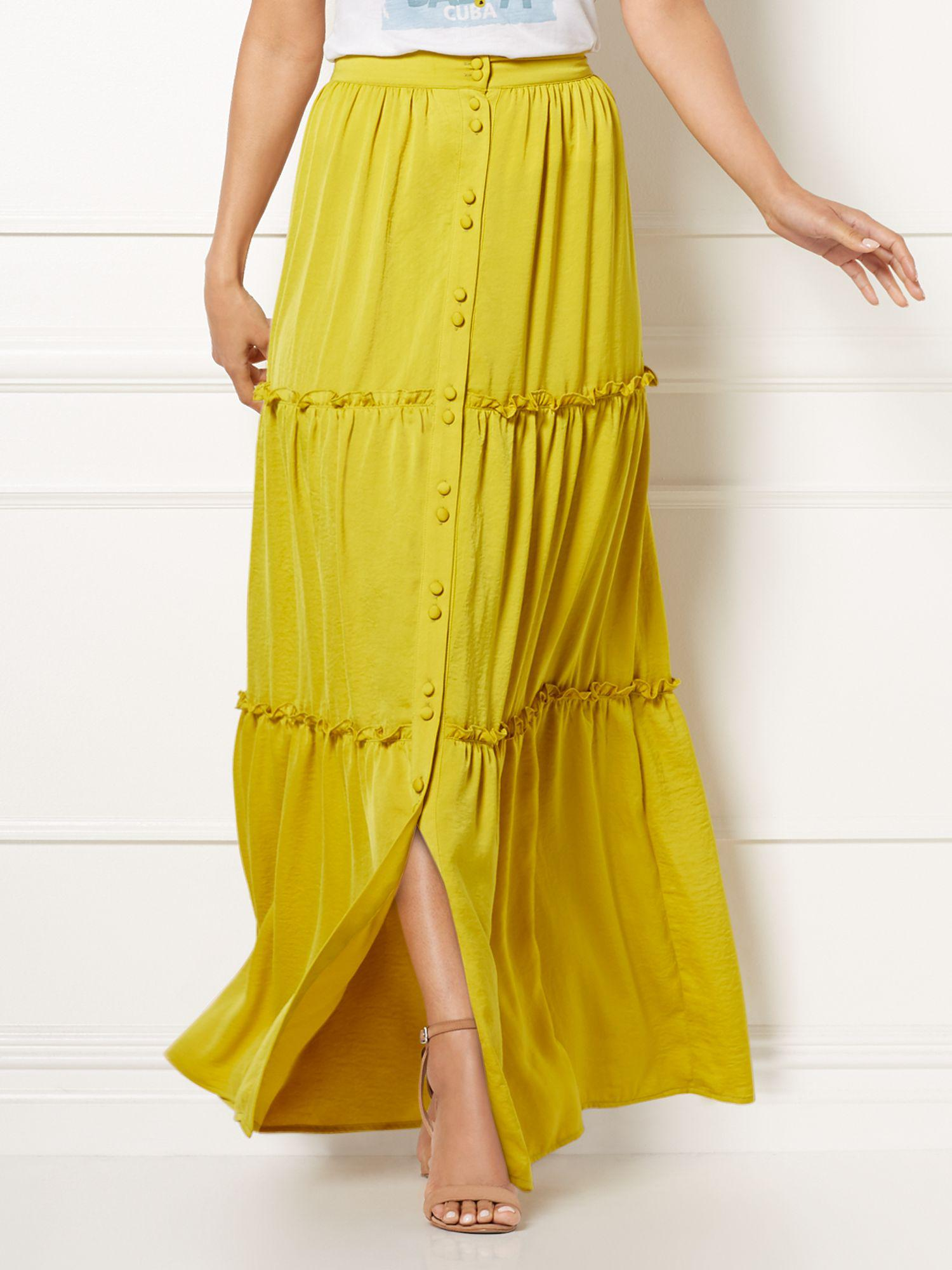 58704f5157747 Lyst - New York   Company Eva Mendes Collection - Sasha Maxi Skirt ...