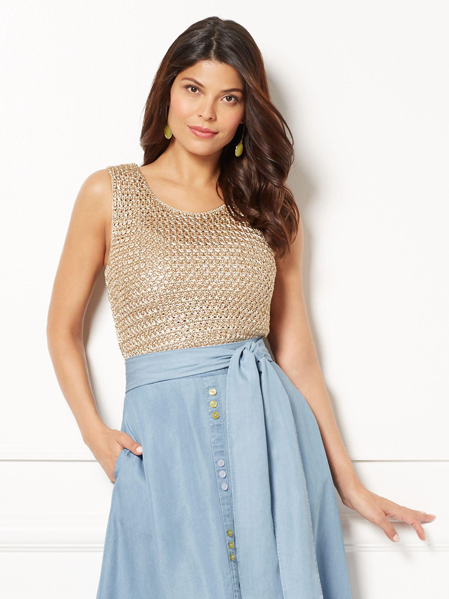 ae4f7580312 Lyst - New York & Company Eva Mendes Collection - Lidia Sweater Tank ...