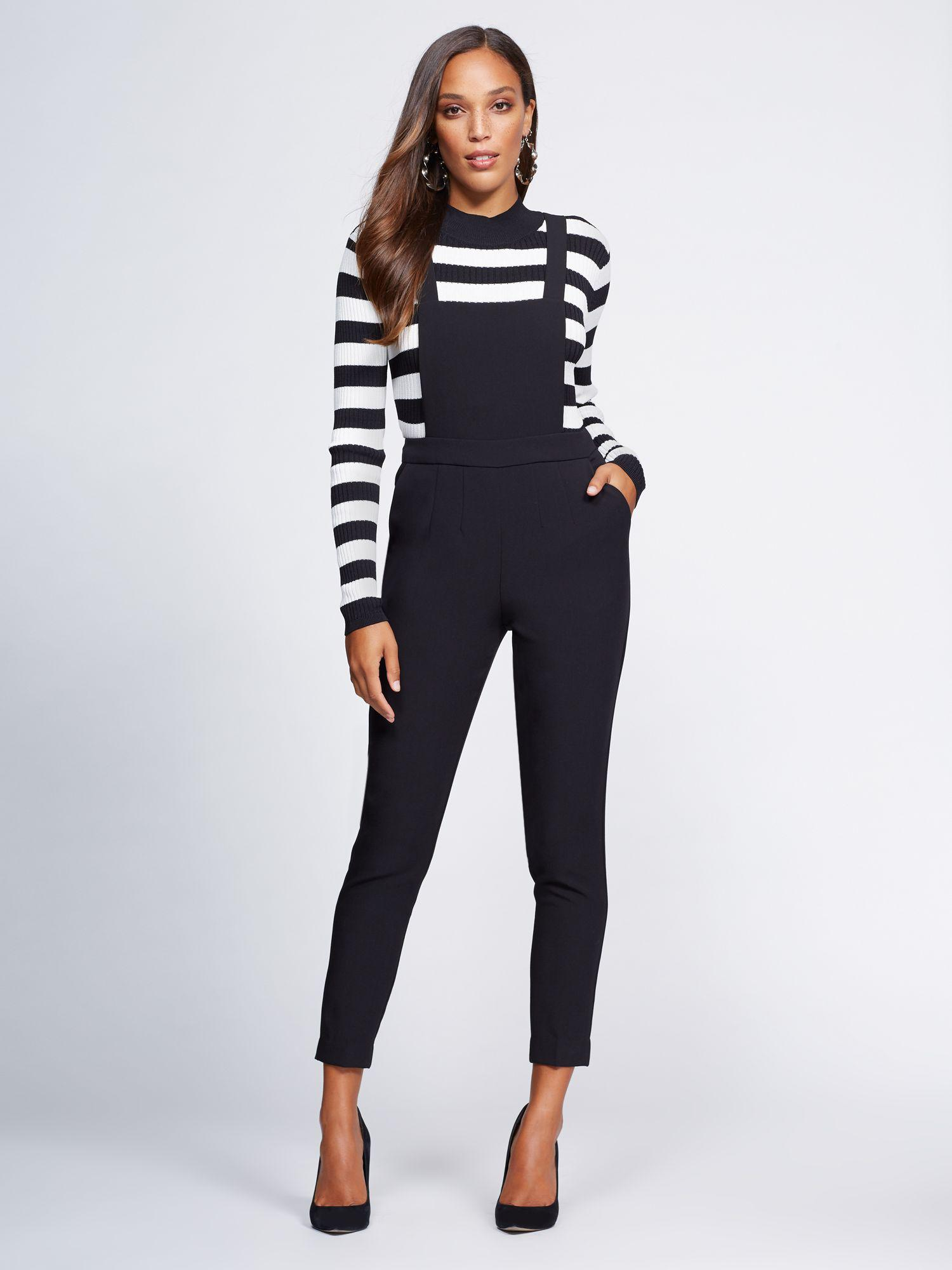 2ee1c80980a Lyst - New York   Company Gabrielle Union Collection - Black Overall ...