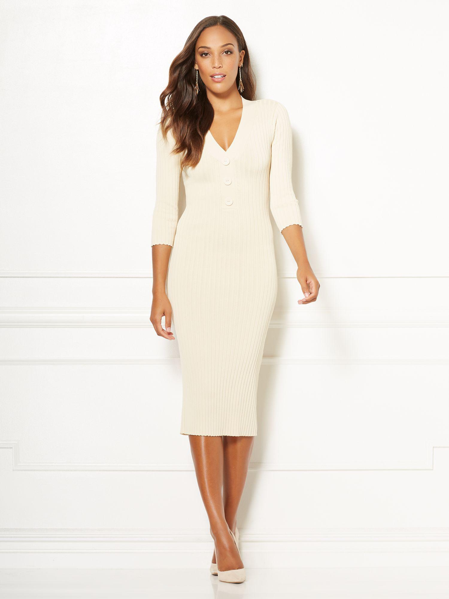 61567166c61 New York   Company. Women s White Eva Mendes Collection - Cherelle Sweater  Dress