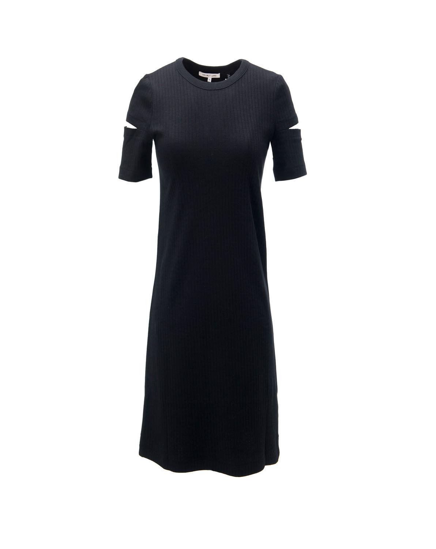 fc5d2ccde4188 Lyst - Helmut Lang Wide Rib Dress in Black