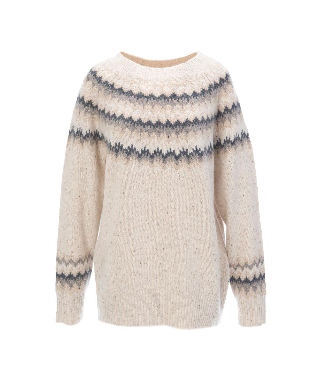 Vince Fair Isle Raglan Sweater | Lyst