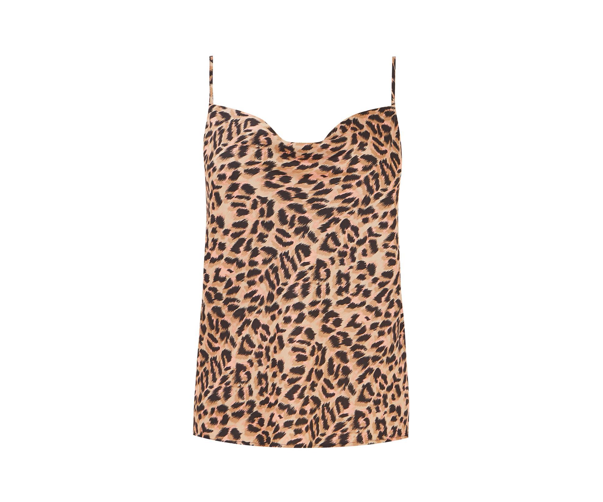 c123c9c52b Oasis - Multicolor Leopard Cowl Cami Top - Lyst. View fullscreen