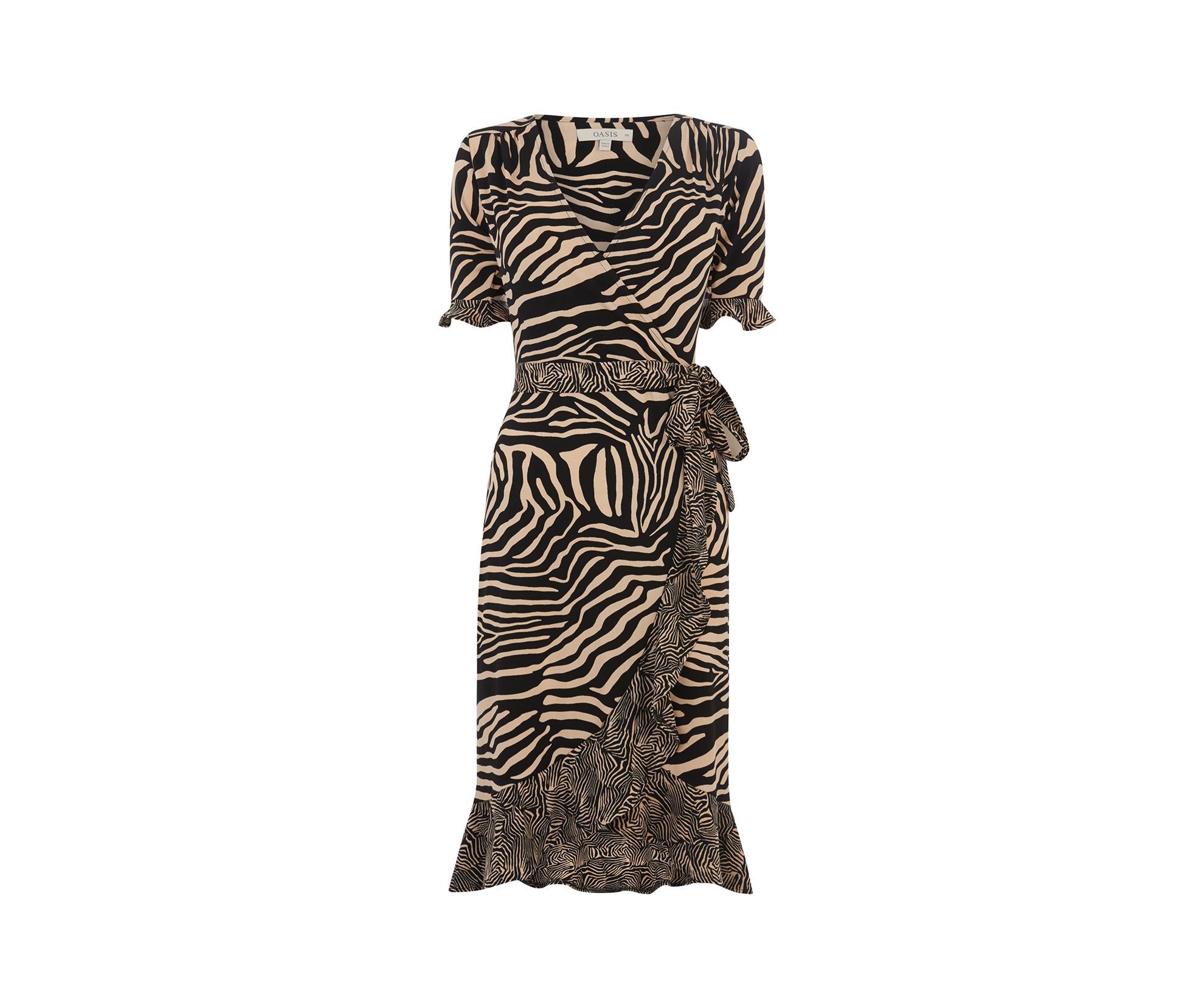 2853c7c5 ... Patched Wrap Dress - Lyst. Visit Oasis. Tap to visit site