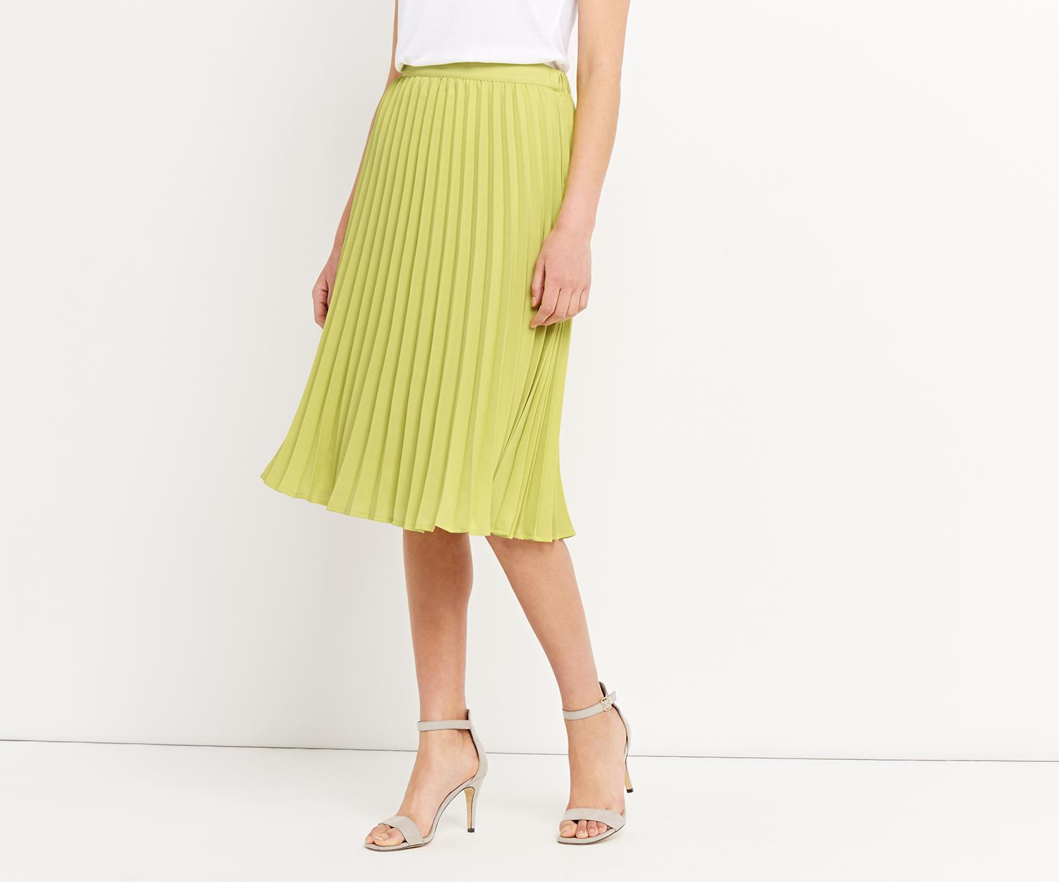 cd50760f2 Oasis Lucia Pleated Skirt in Yellow - Lyst