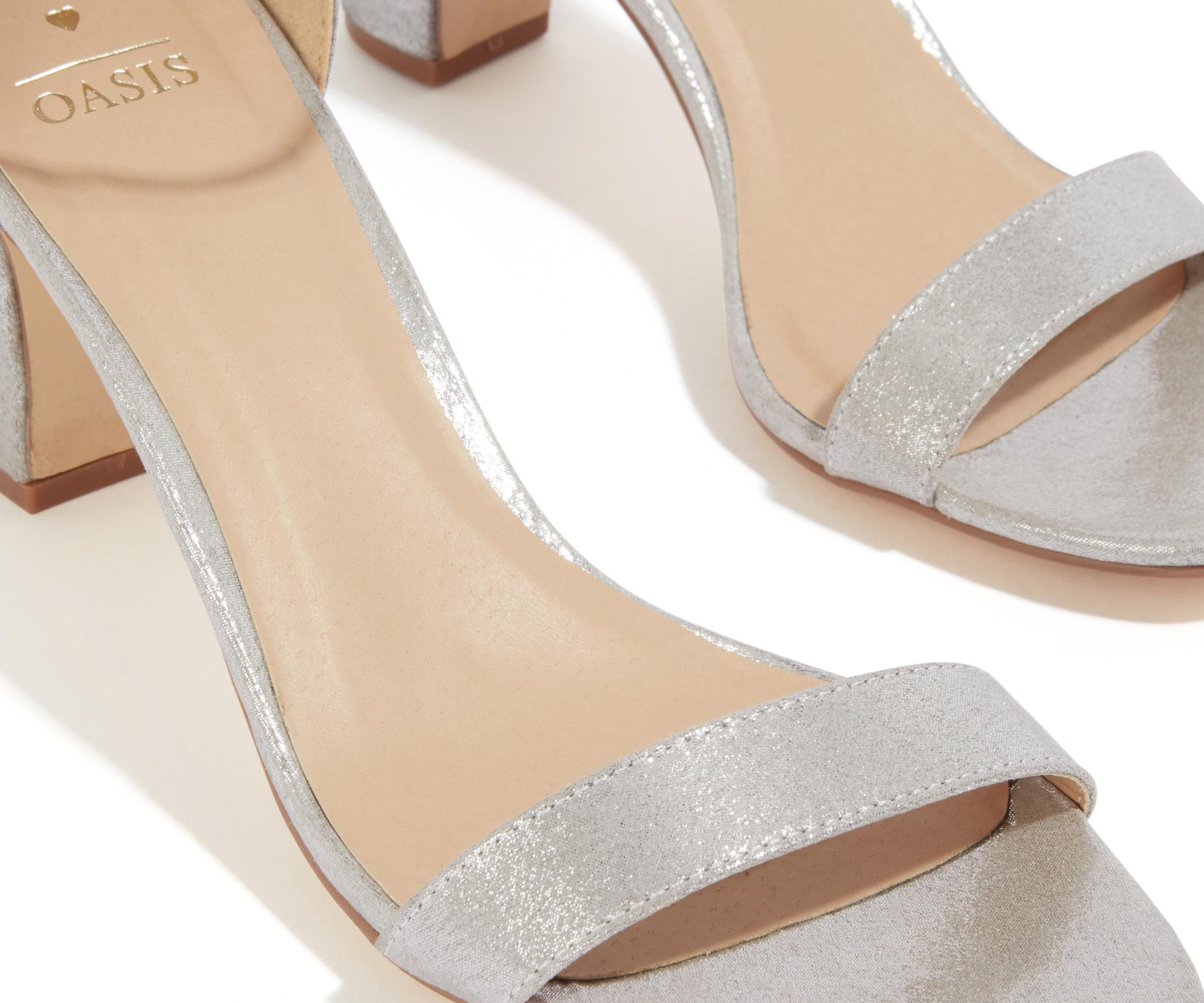5ec11e145341 Oasis Bridesmaid 2 Part Block Heel in Metallic - Lyst