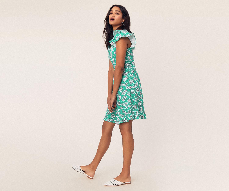 2255070b748e7 Lyst - Oasis Ditsy Print Skater Dress in Green