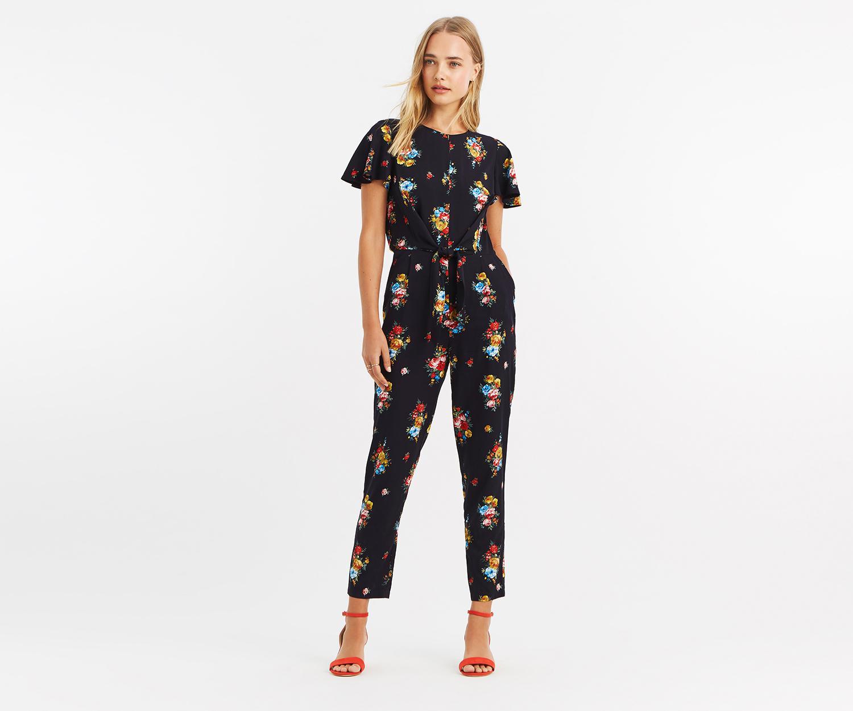 b7ef0763959 Oasis - Multicolor Floral Print Jumpsuit - Lyst