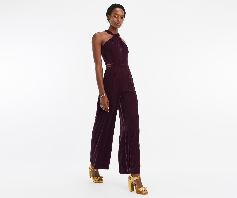 c88376694fd0b Oasis Twist Velvet Jumpsuit in Purple - Lyst