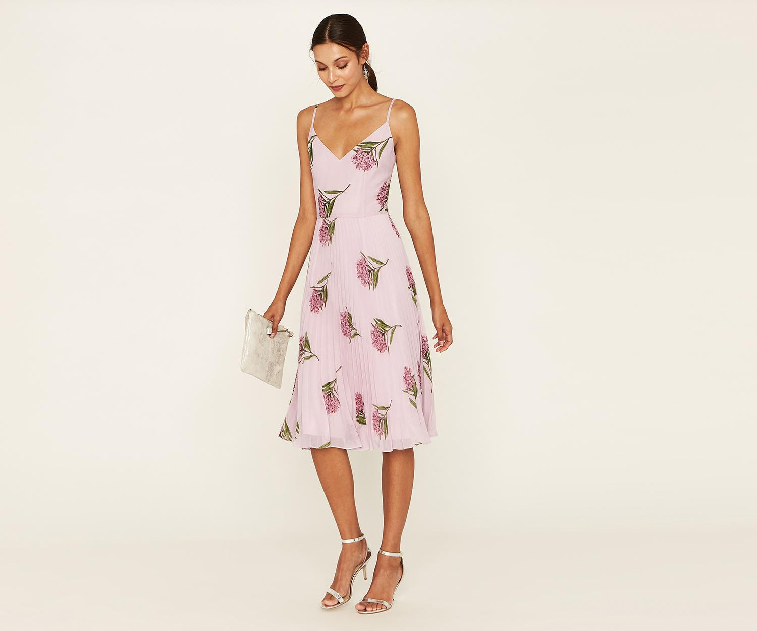 0326df75a5 Oasis Nhm Lace Midi Dress in Pink - Lyst