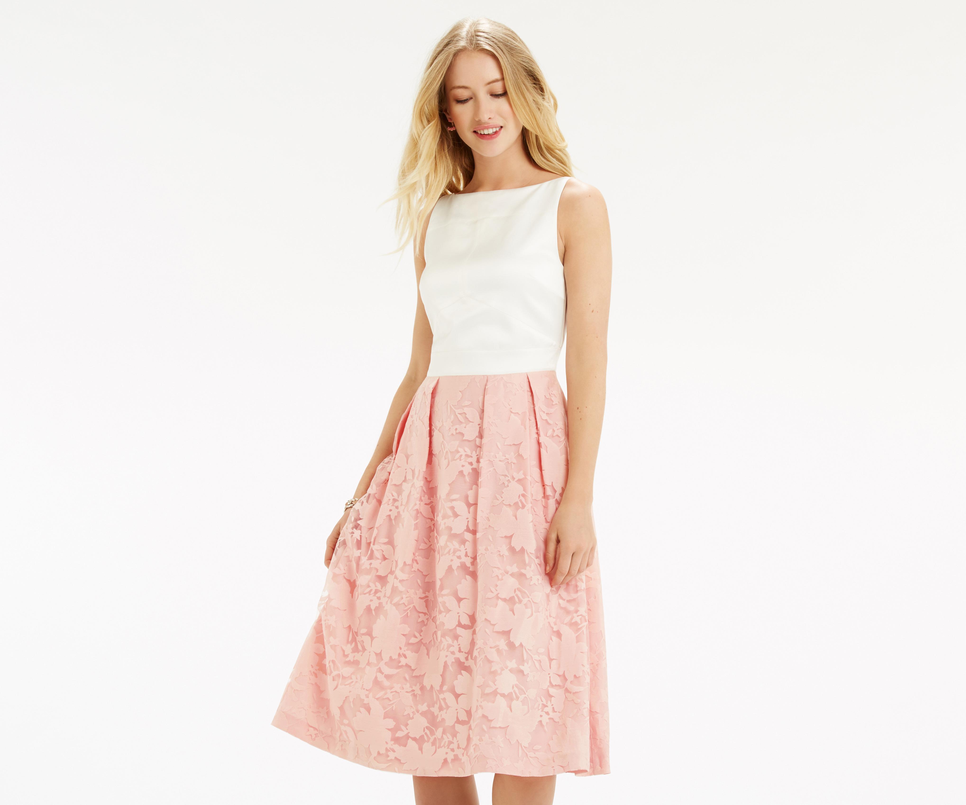 0cd6a63571b Lyst - Oasis Organza Midi Dress - Multi Pink
