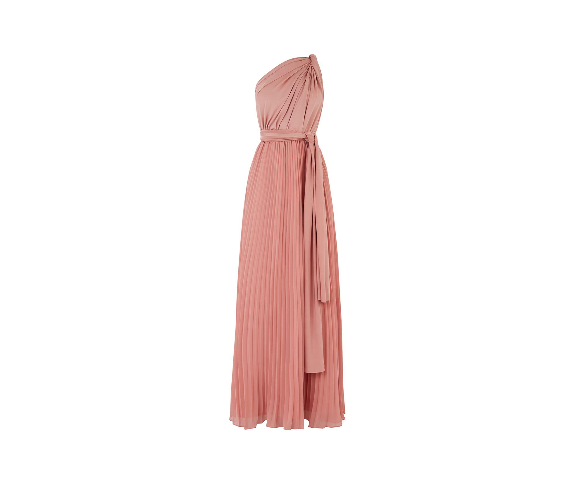 f306a48b19d Oasis - Pale Pink Wear It Your Way Pleated Maxi Dress - Lyst. View  fullscreen