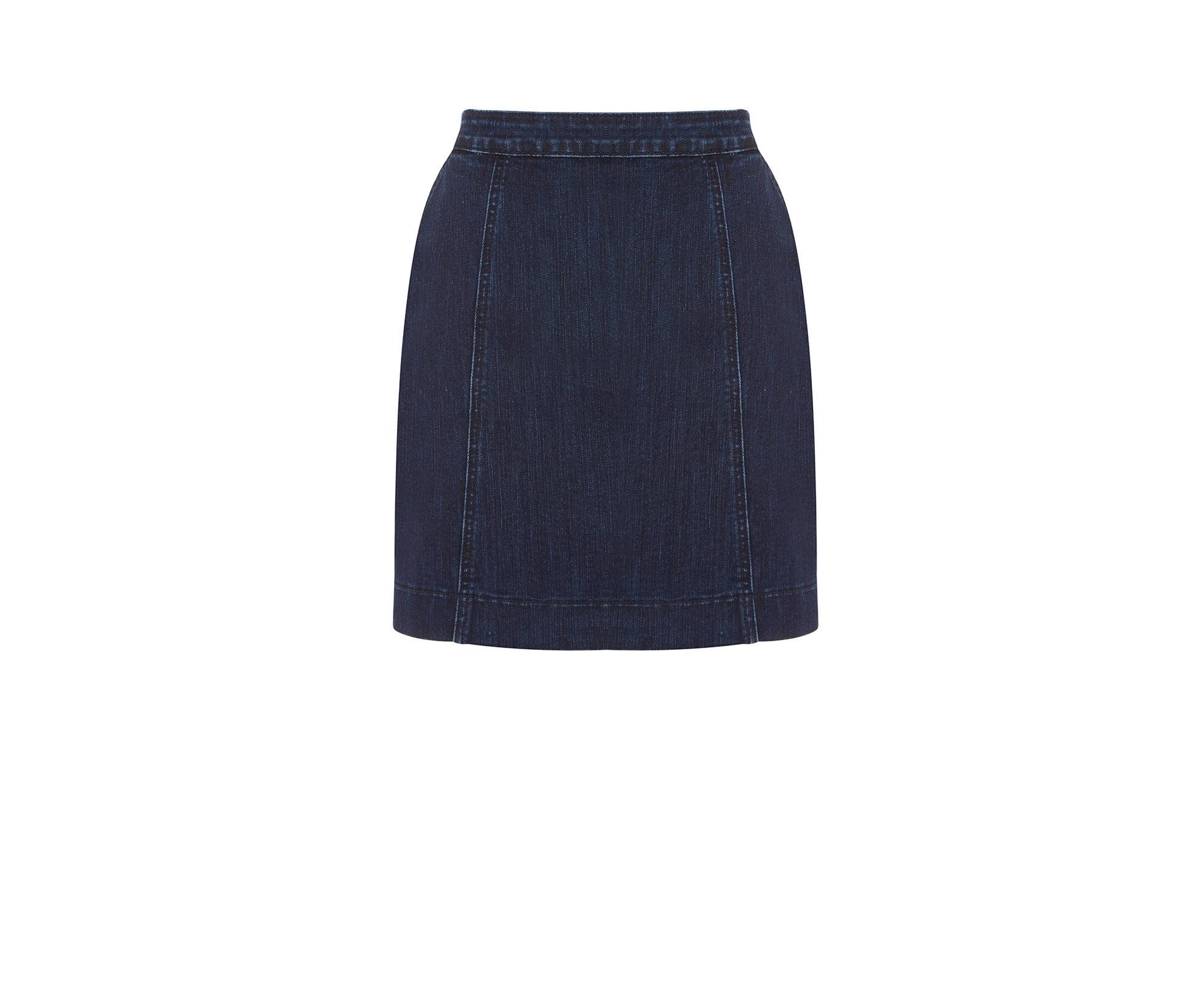 oasis easy denim skirt in blue lyst