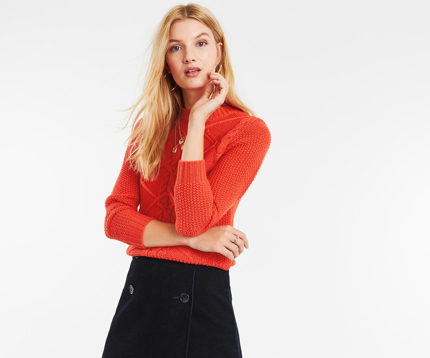 ab7efd561 Oasis Nyla Cable Jumper in Red - Lyst