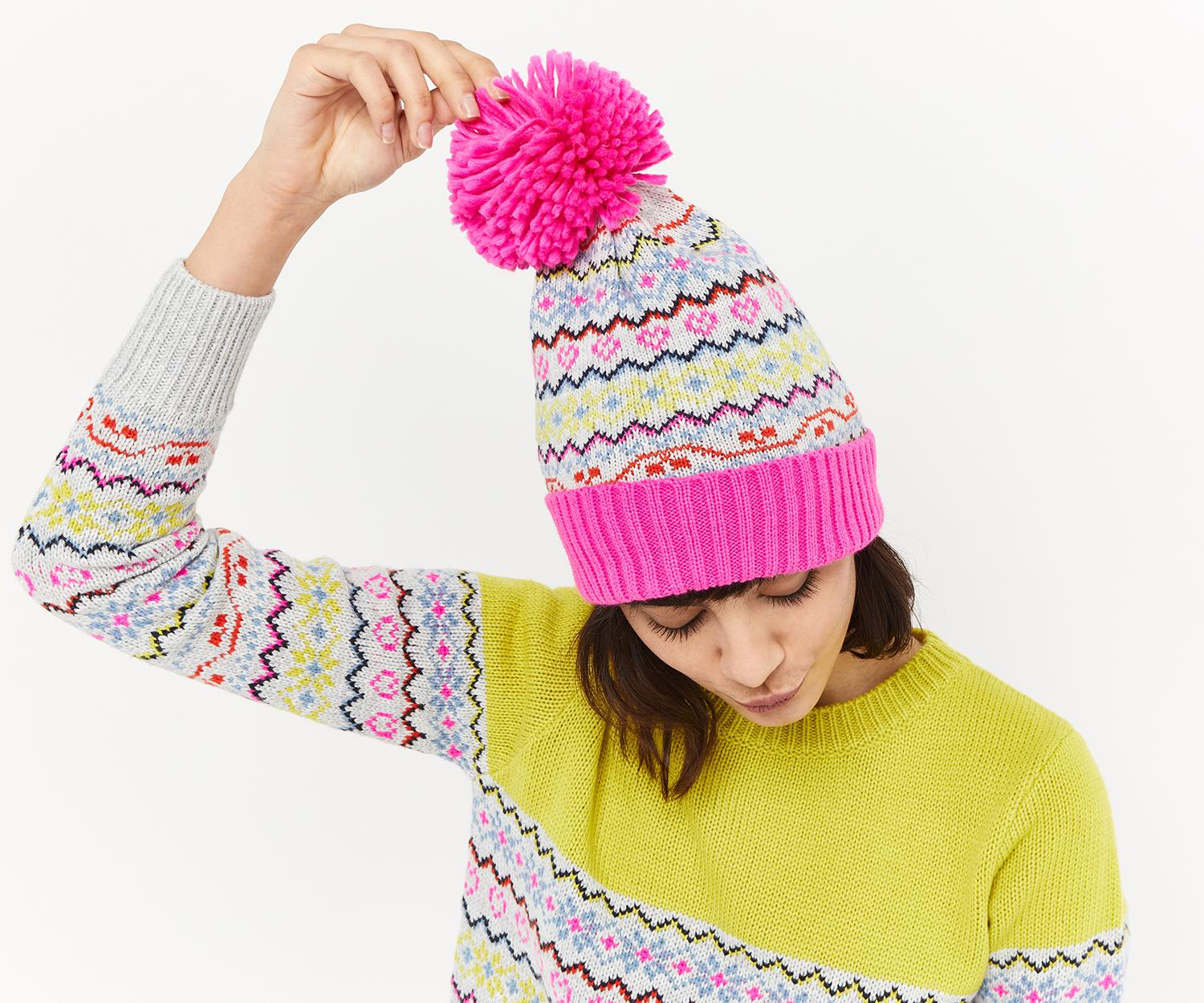 15566f48366 Lyst - Oasis Fair Isle Beanie Hat in Pink