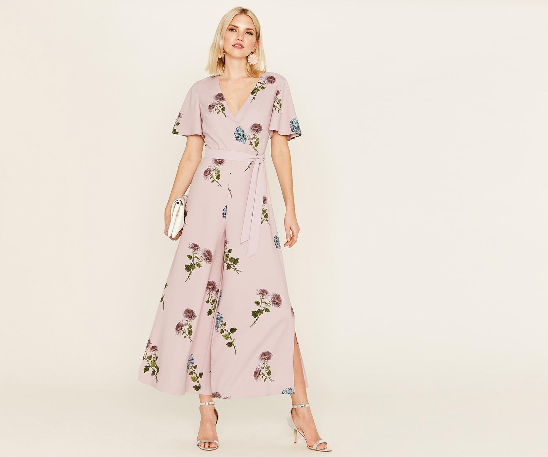4de3197b278 Oasis Nhm Floral Jumpsuit in Pink - Lyst