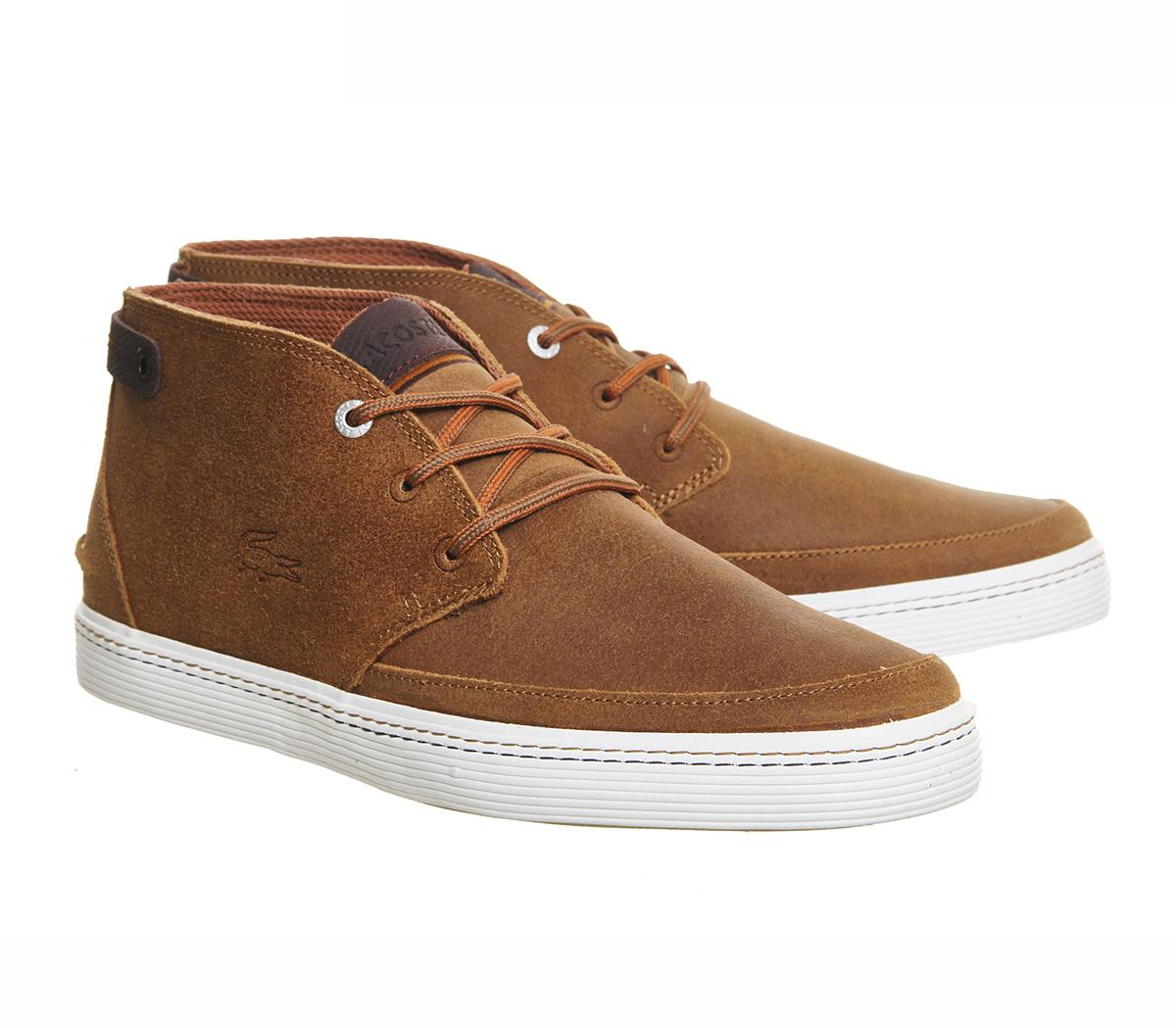 lyst lacoste clavel chukka boots in brown for men. Black Bedroom Furniture Sets. Home Design Ideas