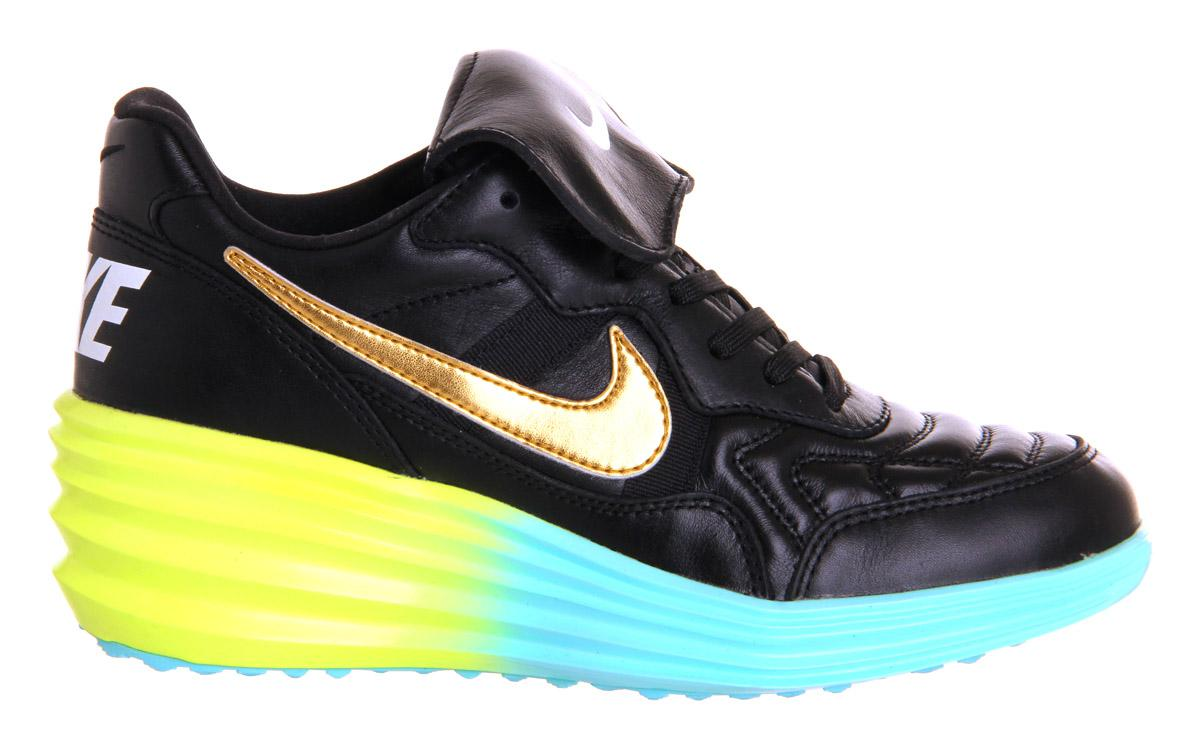 19f694ee7cc7 Nike Lunar Tiempo Sky Hi in Black Lyst 1Hf4R2R2B Nike Lunar Tiempo Sky Hi  Hers Trainers Magista Black Metallic Gold Volt Qs Limited Availability ...