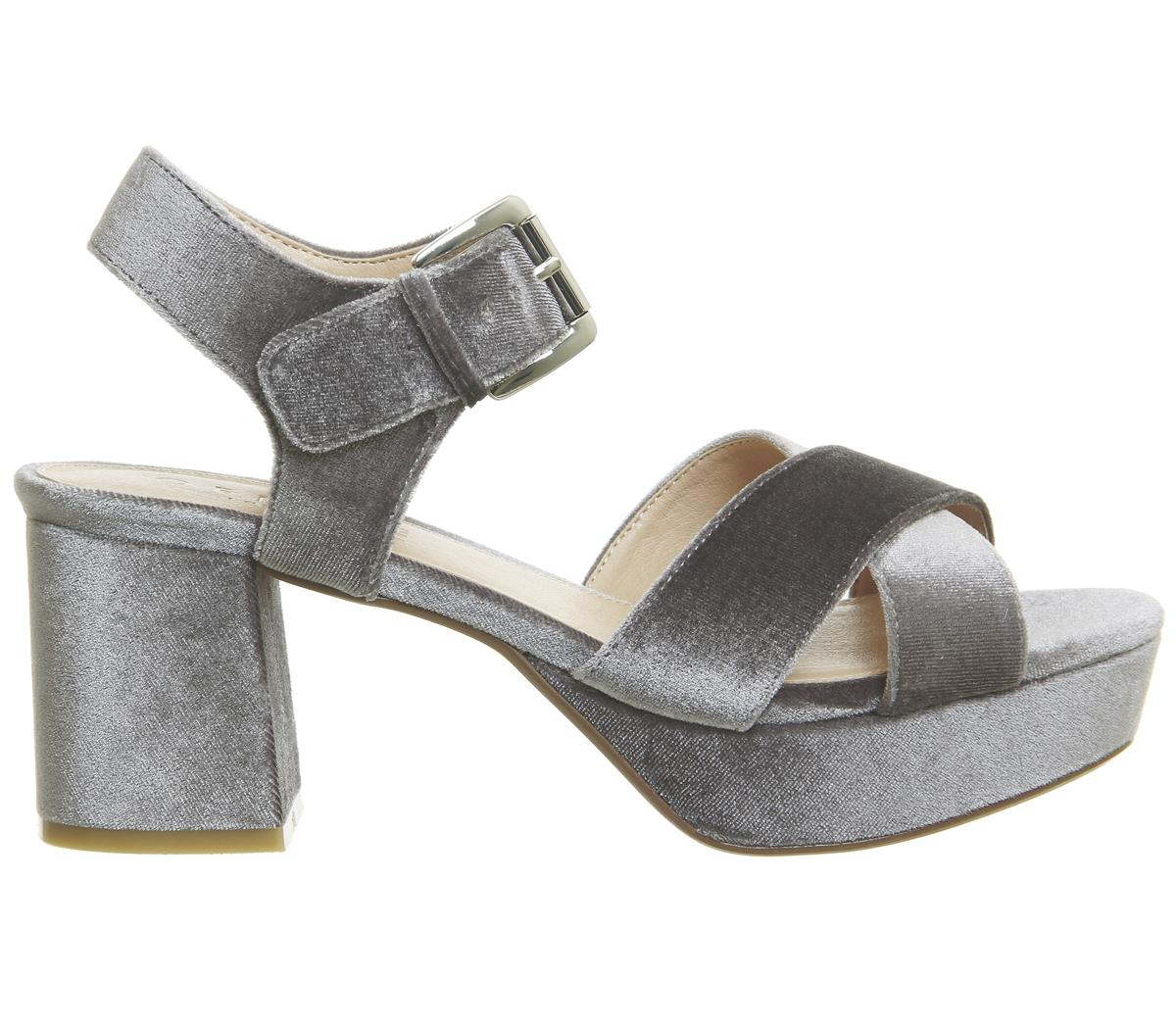 4b420e4fa9e Lyst - Office Montana Platform Block Heels in Gray