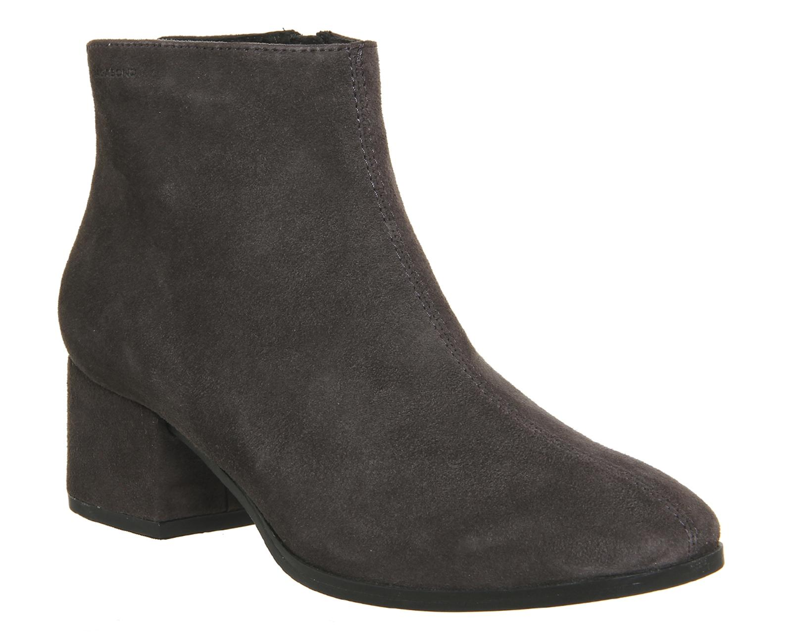 vagabond daisy ankle boots in gray lyst. Black Bedroom Furniture Sets. Home Design Ideas