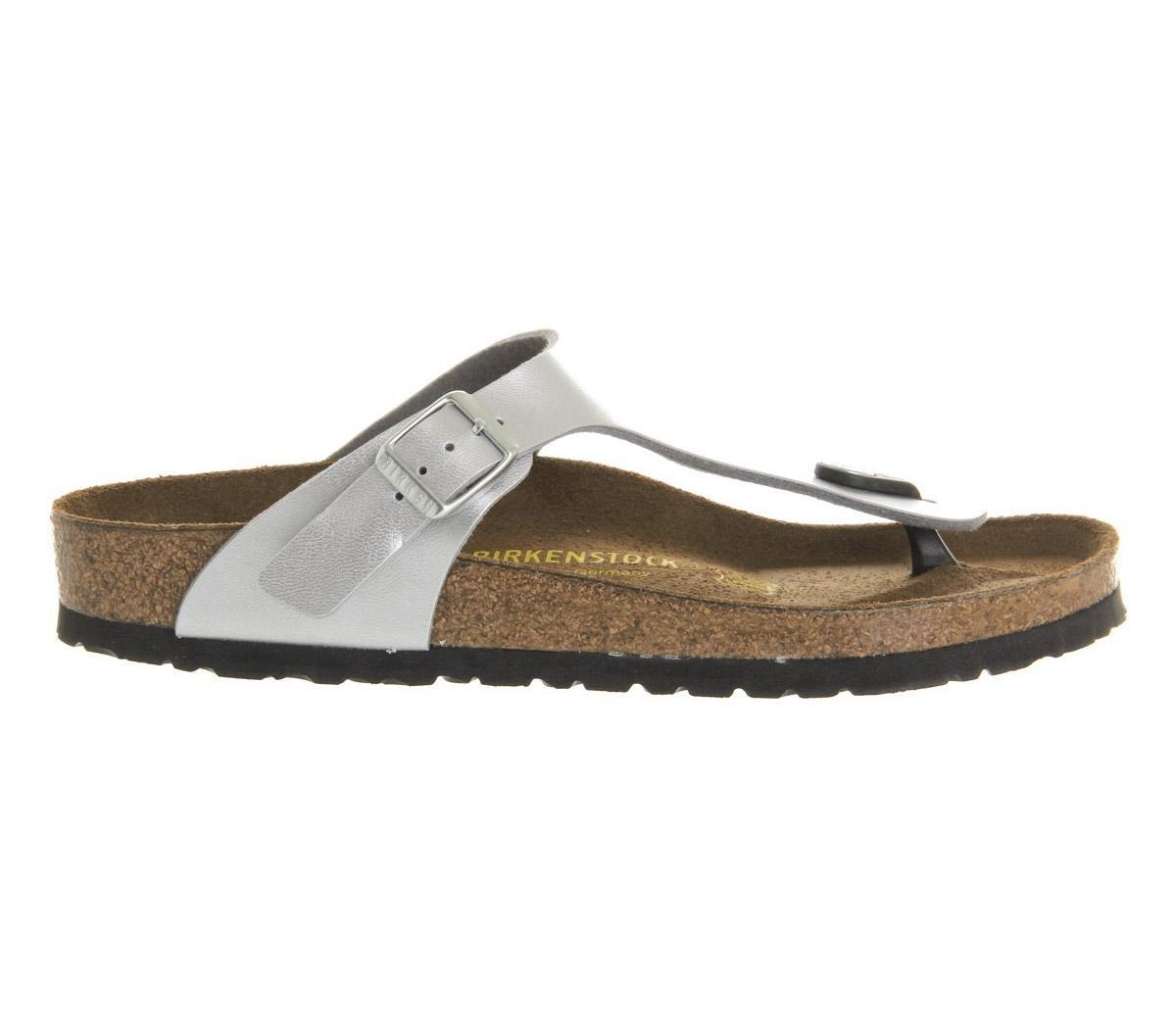 056666fe76b9d Lyst - Birkenstock Gizeh Toe Thong Footbed in Metallic