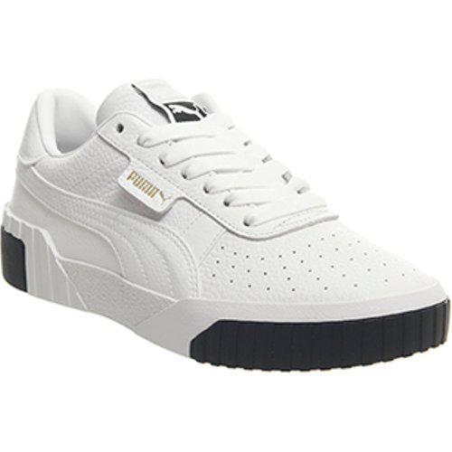 2e92444e0b510c Lyst - PUMA Cali White And Black Sneakers in White - Save 34%